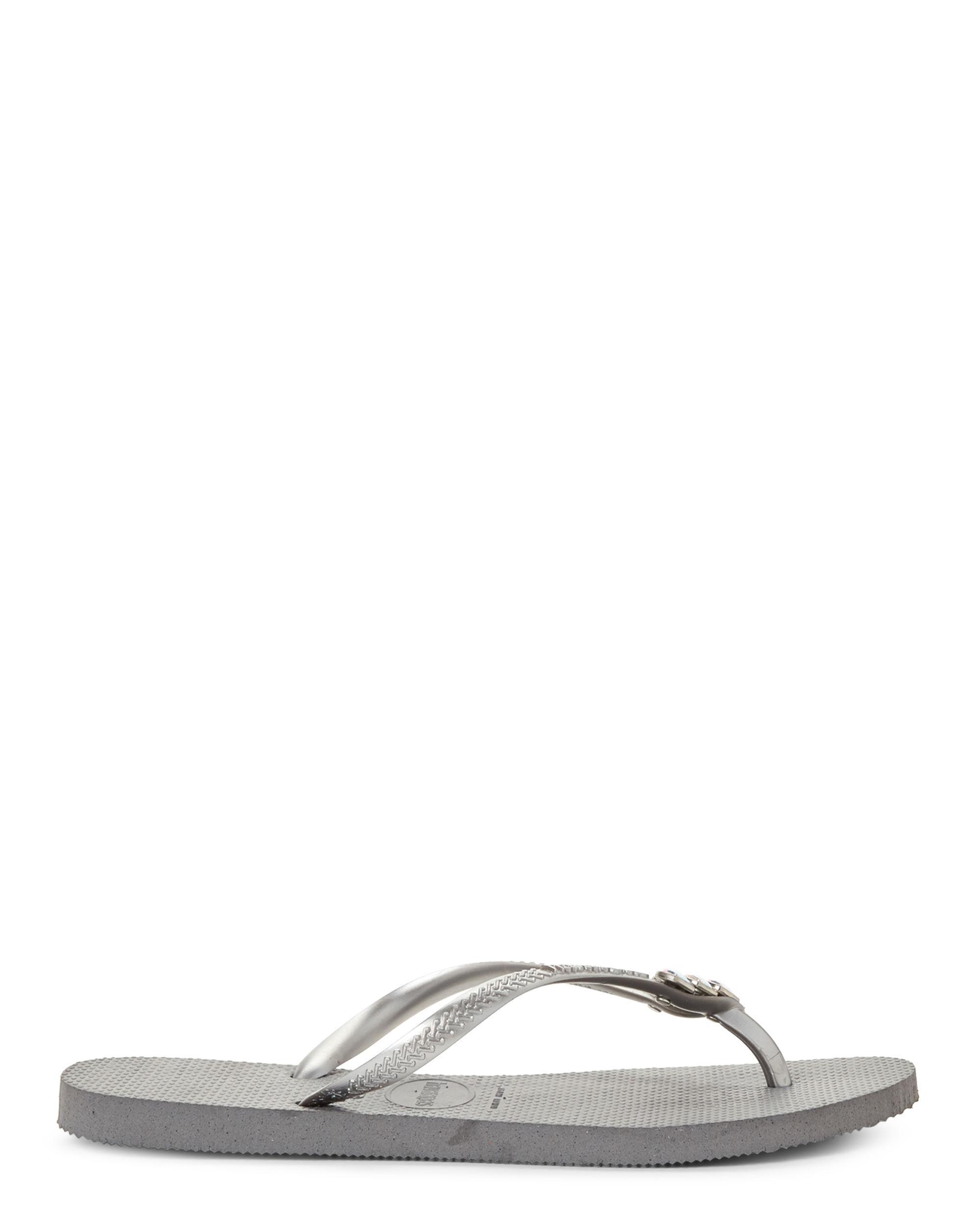35e2f4821e4 Lyst - Havaianas Steel Grey Slim Mermaid Sandals in Gray