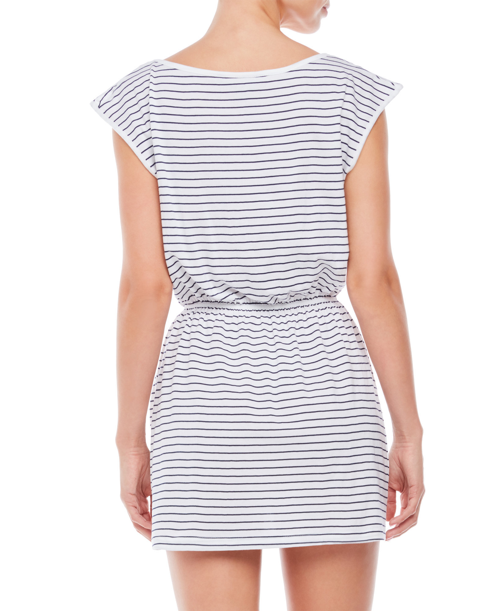 French connection material girl striped t shirt dress in for French connection t shirt dress