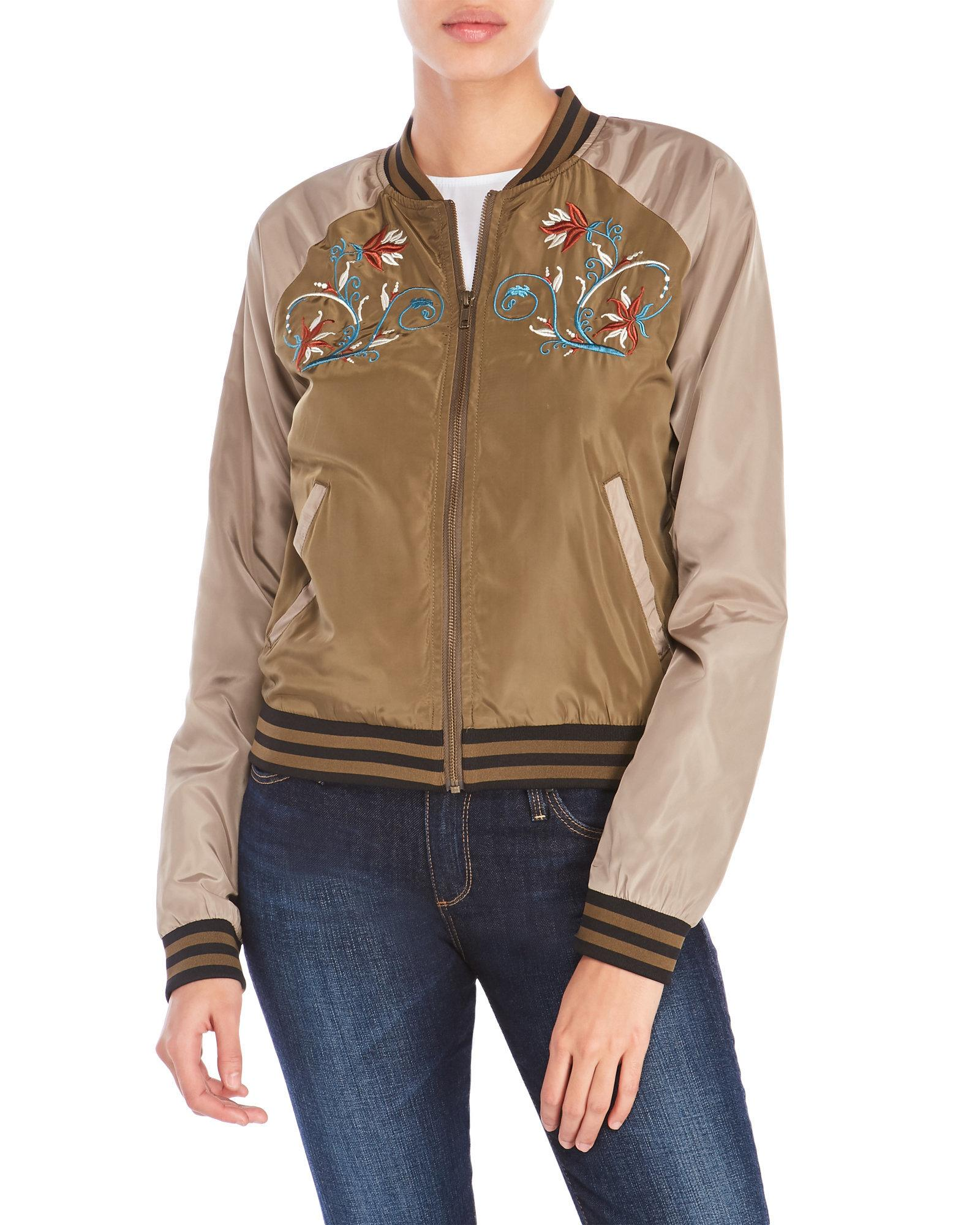 romeo and juliet couture embroidered bomber jacket in