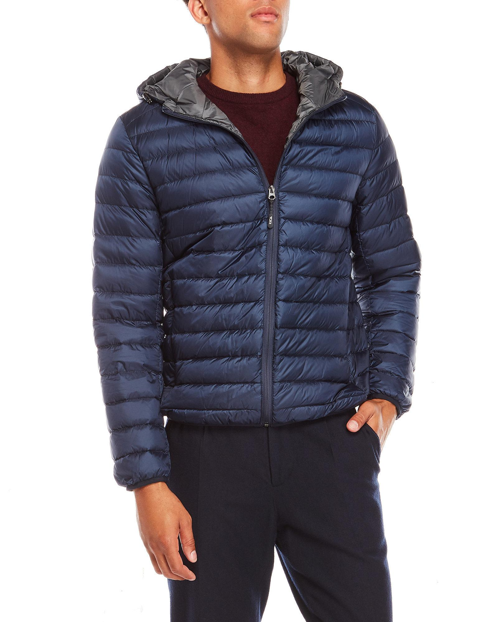 Tumi Nano Hooded Packable Jacket In Blue For Men Lyst