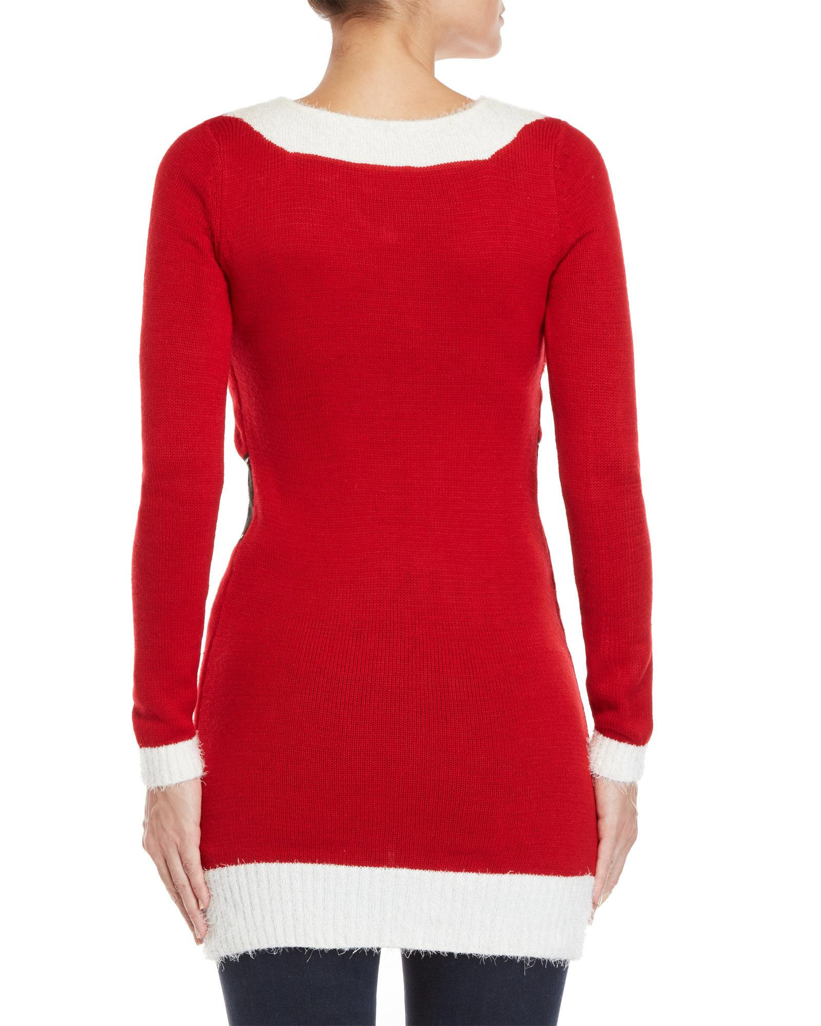 Lyst - Love By Design Santa Ugly Christmas Sweater Dress in Red