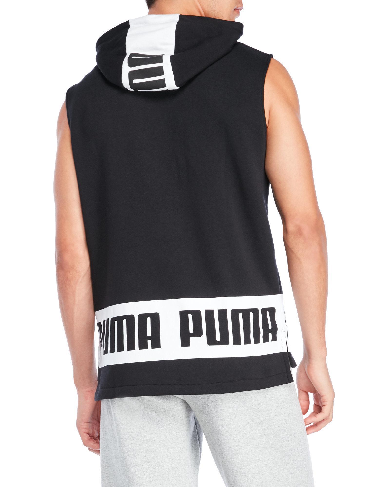 c934f57ec137cf Lyst - PUMA Rebel Sleeveless Hoodie in Black for Men