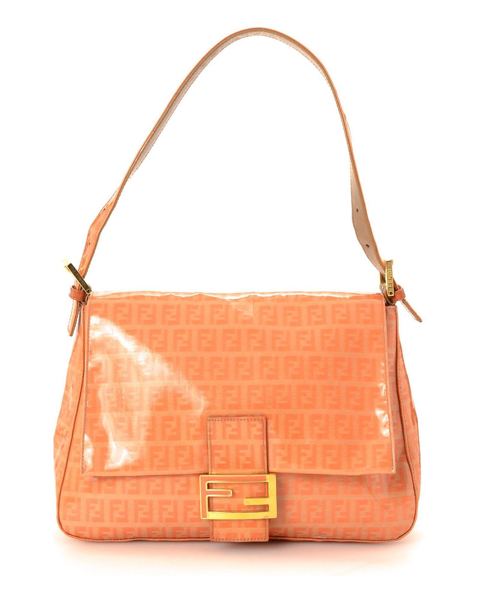 bdf6069213 Lyst - Fendi Zucchino Mamma Bague Shoulder Bag - Vintage in Orange