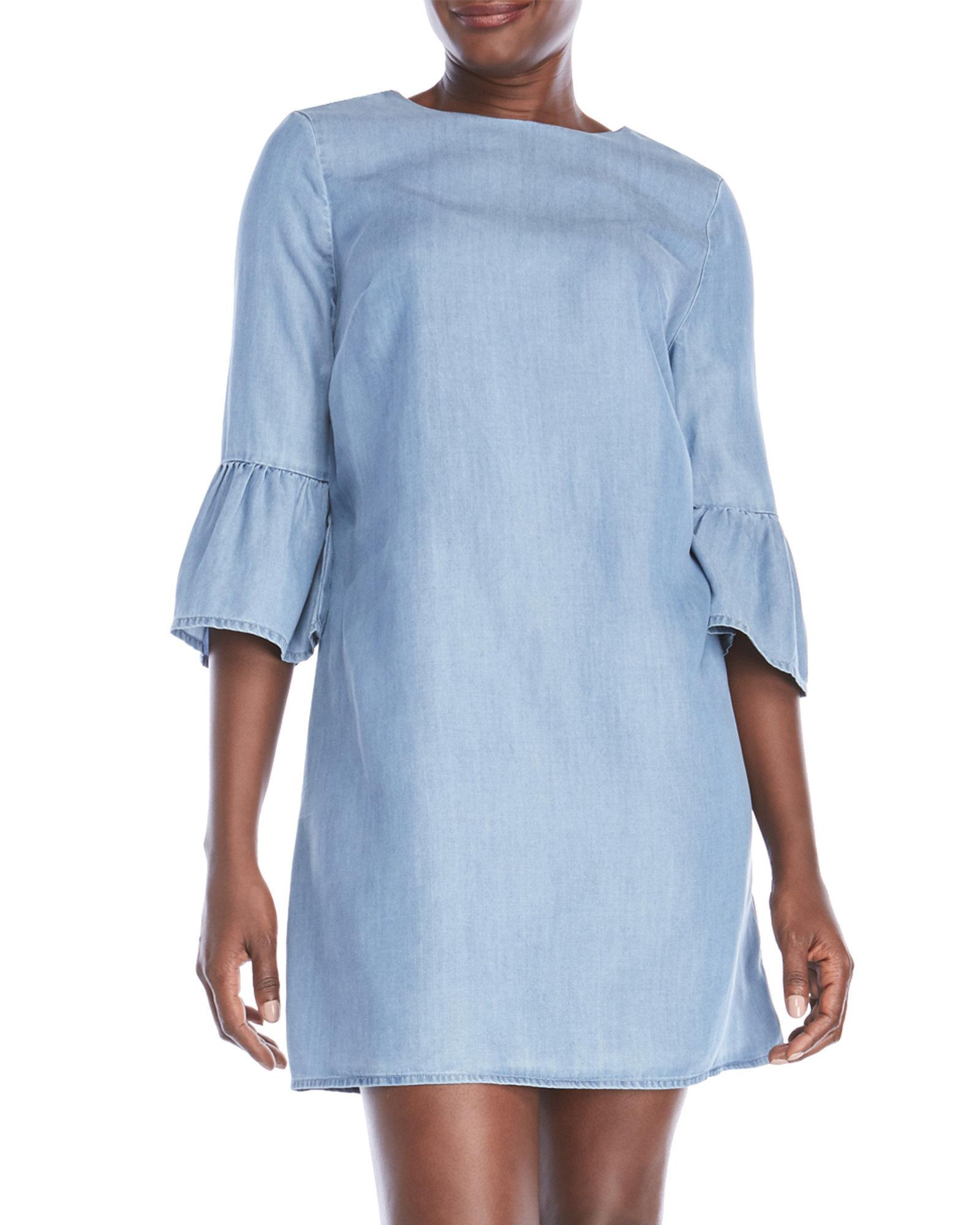 5895ebd486 Lyst - Beach Lunch Lounge Chambray Shift Dress in Blue