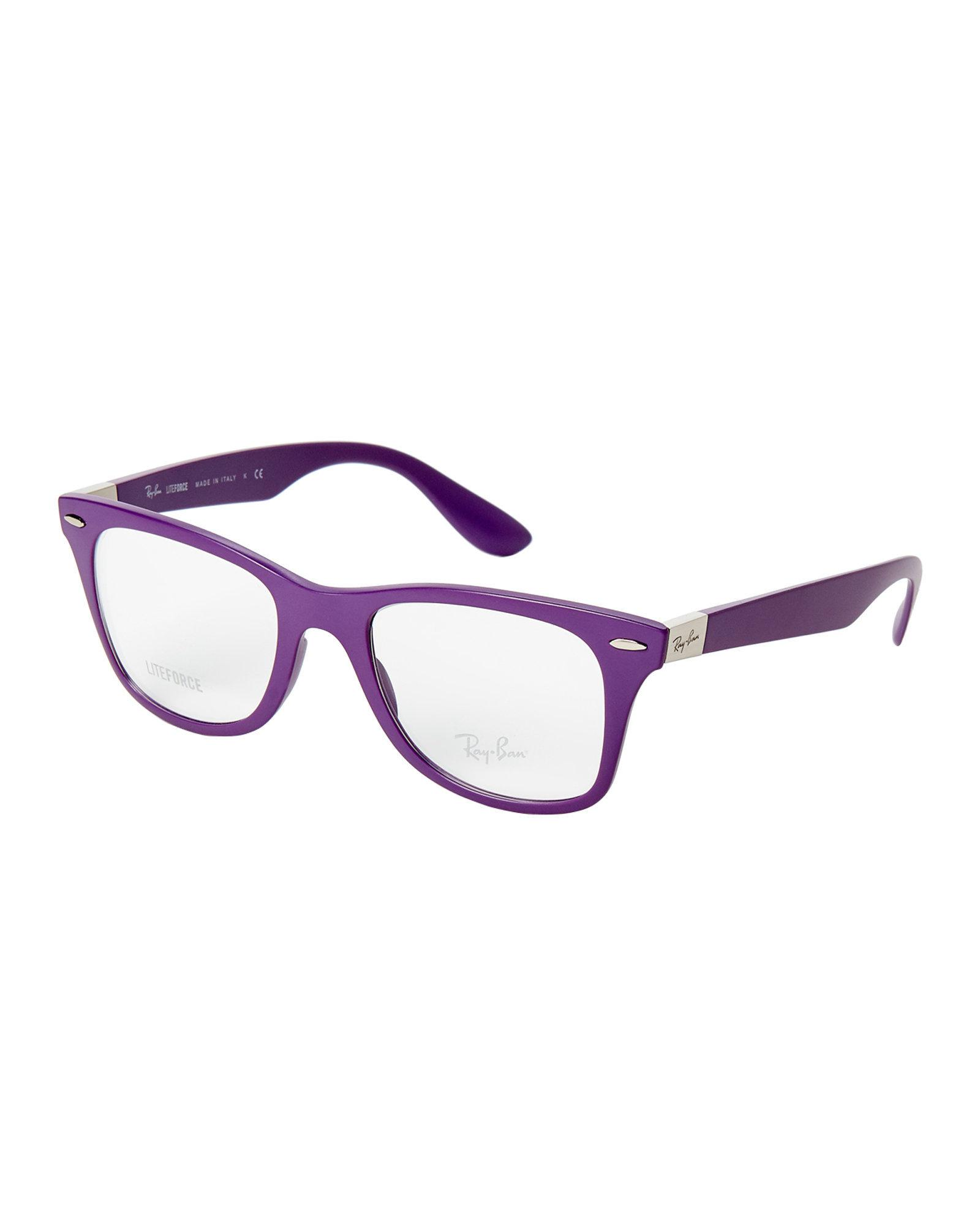 Lyst - Ray-Ban Rb7034 Purple Liteforce Wayfarer Optical Frames in Purple