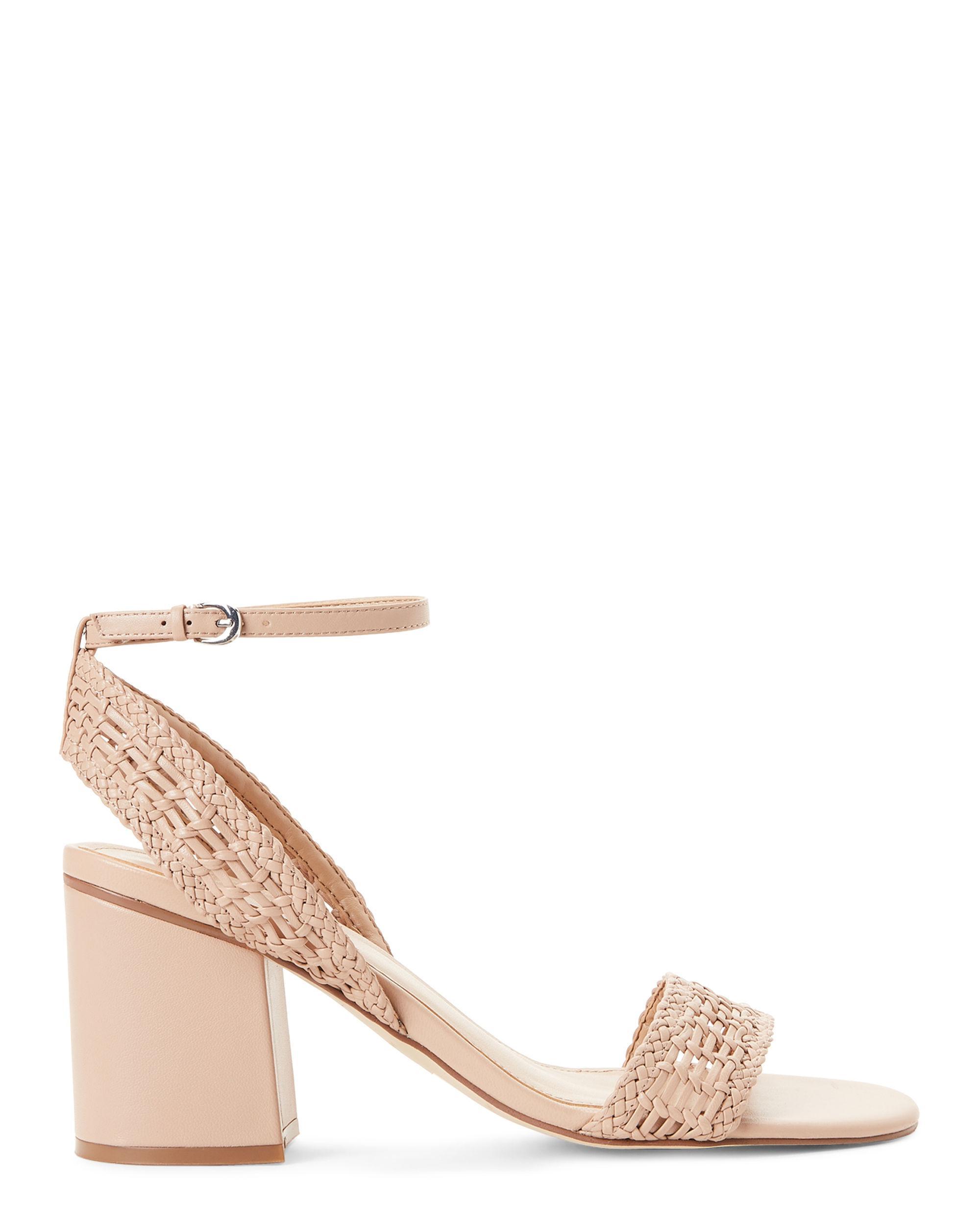 5618f4f3485 Marc Fisher - Multicolor Lite Latte Amere Leather Block Heel Sandals -  Lyst. View fullscreen