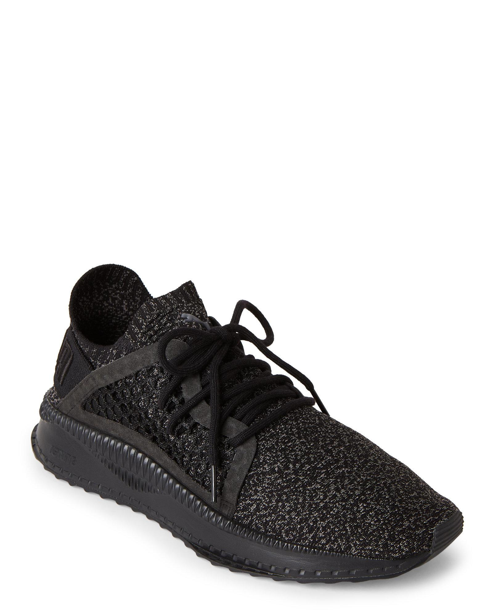 Lyst - PUMA Black   Steel Grey Tsugi Netfit Evoknit Sneakers in ... 71ee02fc44