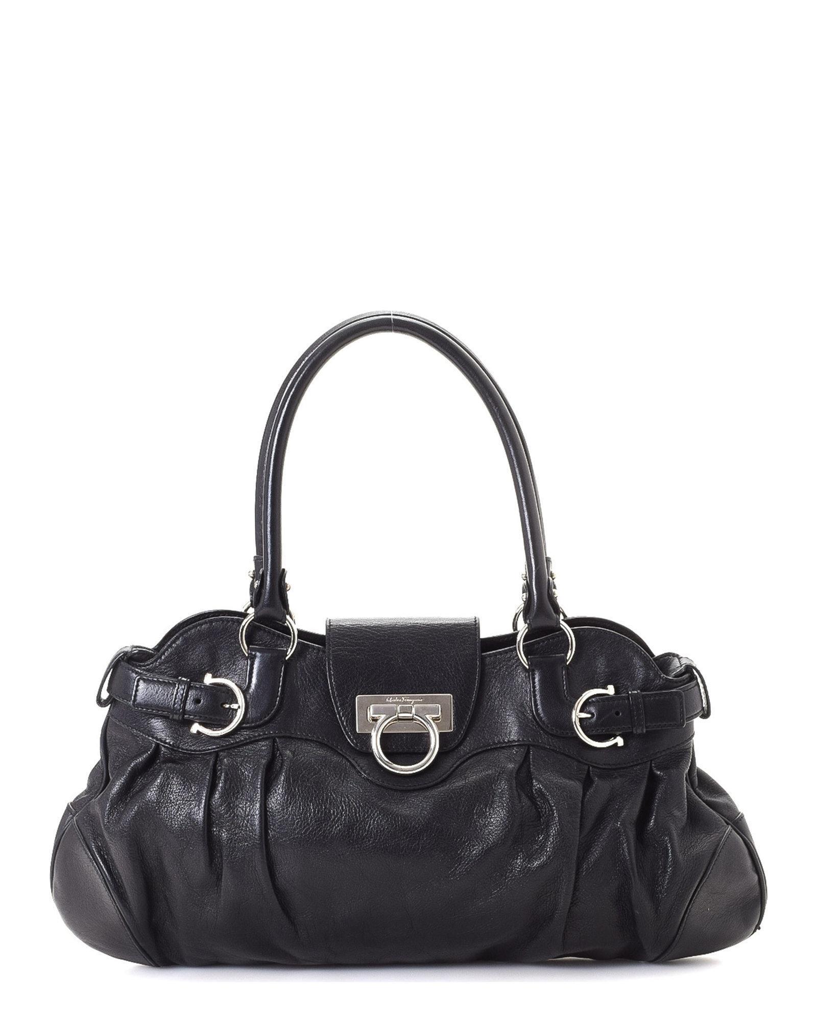 2ead5e1f8419 Lyst - Ferragamo Marisa Shoulder Bag - Vintage in Black
