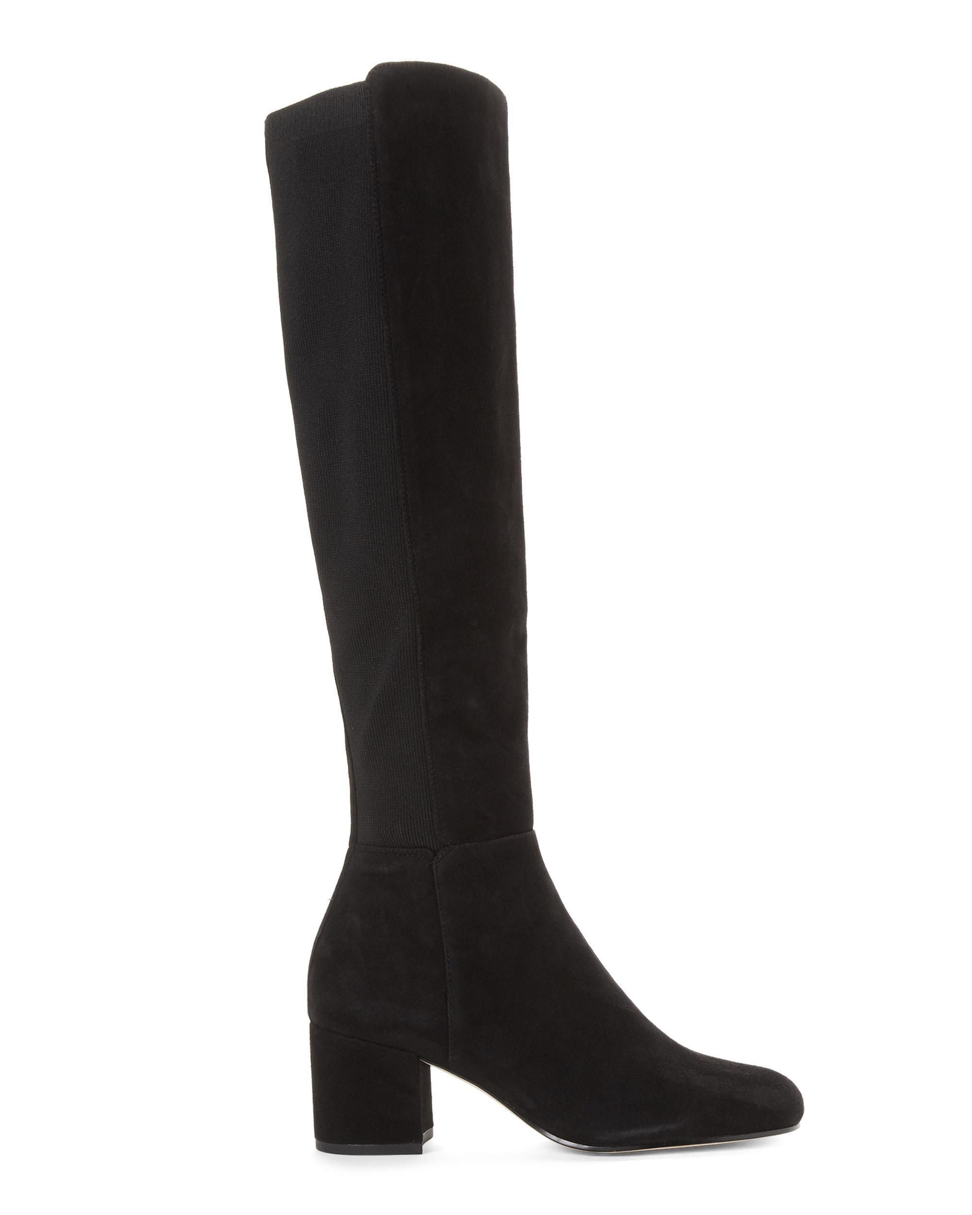 721ecbf8dc80 Lyst - Sam Edelman Black Valda Suede Knee-high Boots in Black