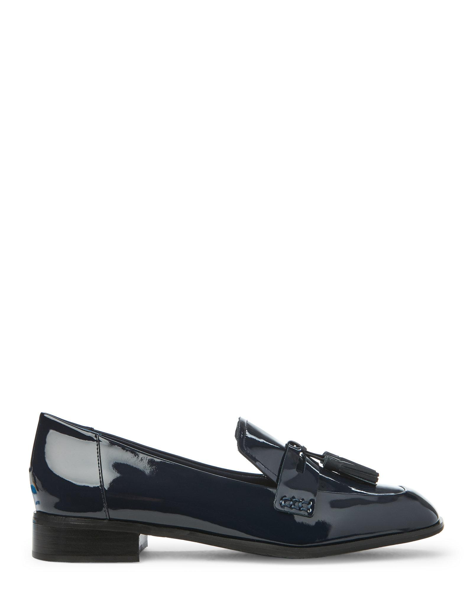 72cd13a83e6 Lyst - Tahari Deep Navy Tina Patent Loafers in Blue