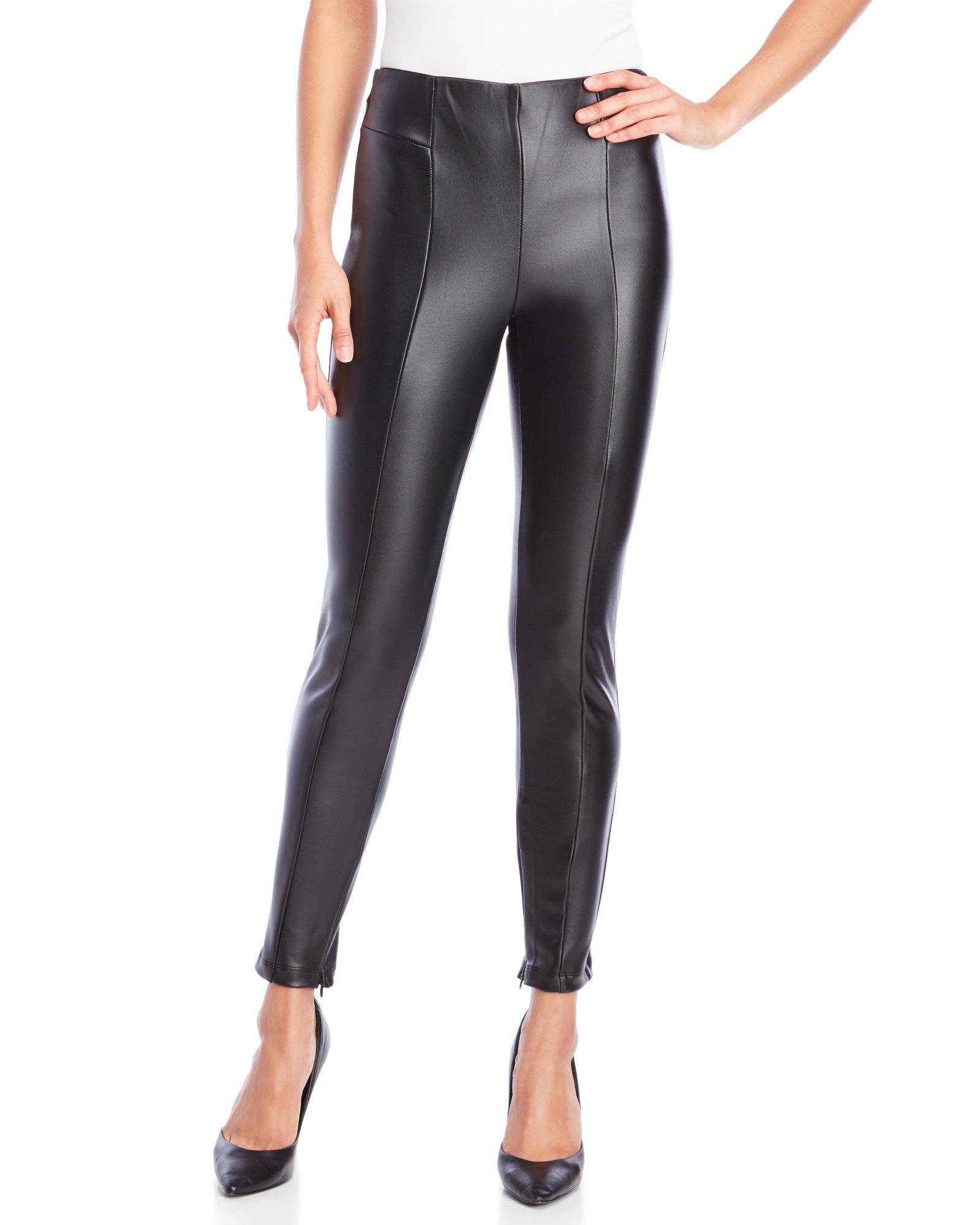 dfab7134d8ab49 Romeo and Juliet Couture Faux Leather Leggings in Black - Lyst