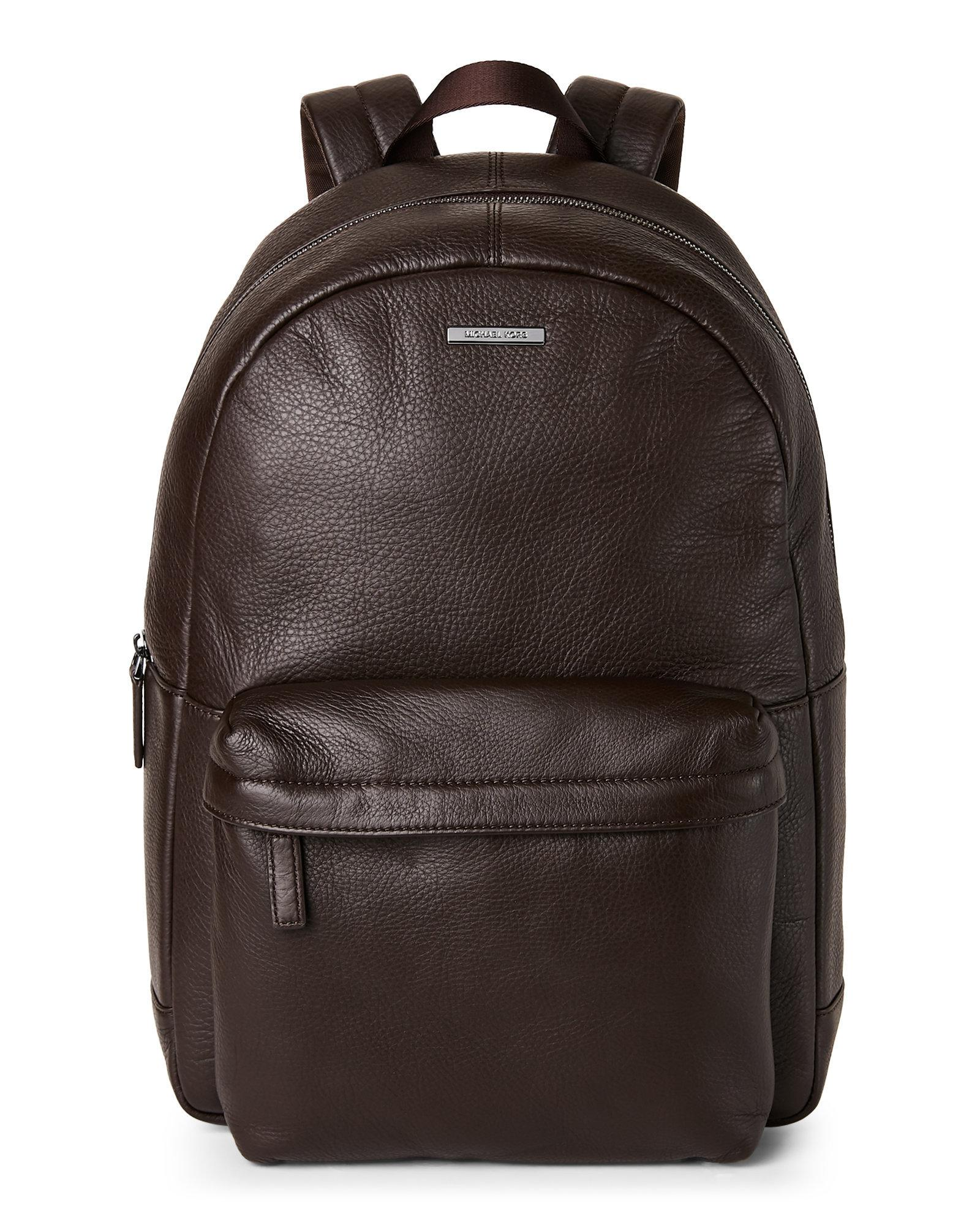9772e2e2baea ... featuring bags, backpacks Lyst - Michael Kors Stephen Leather Backpack  in Brown for Me ...