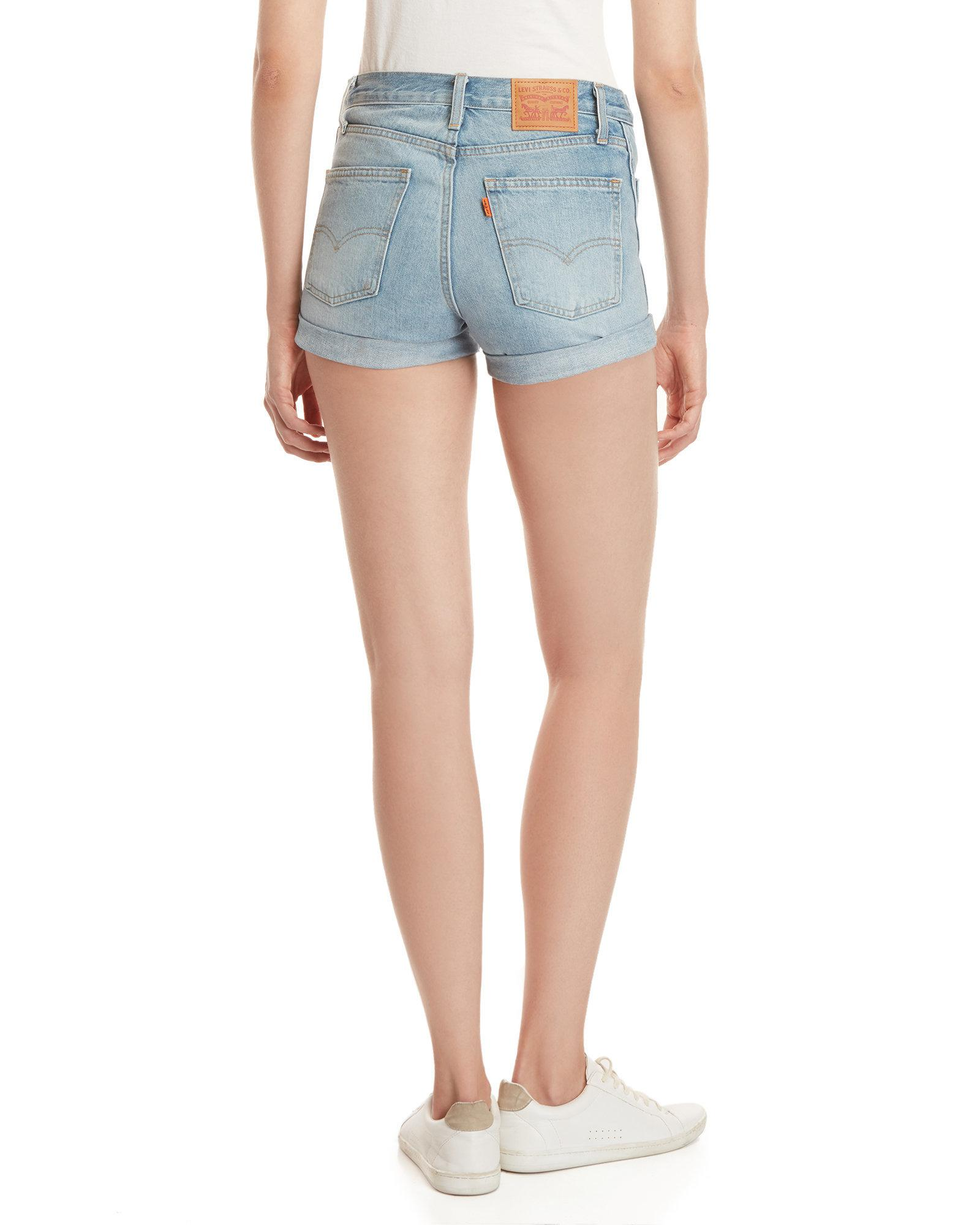 a2025c23 Gallery. Previously sold at: Century 21 · Women's High Waisted Leather  Shorts ...