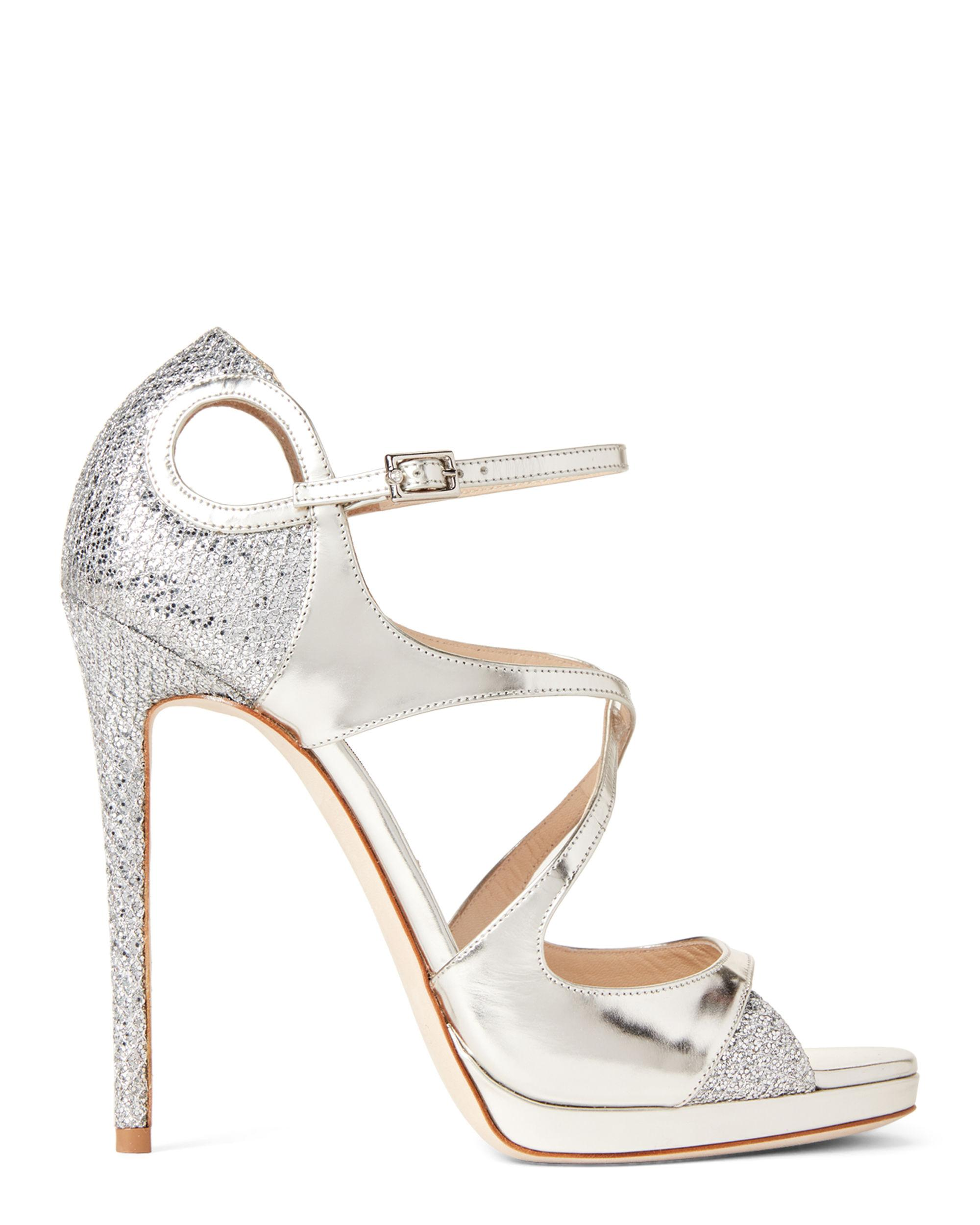 4dbf5e5401c Lyst - Jimmy Choo Silver Fancie Metallic Leather Sandals in Metallic - Save  25%