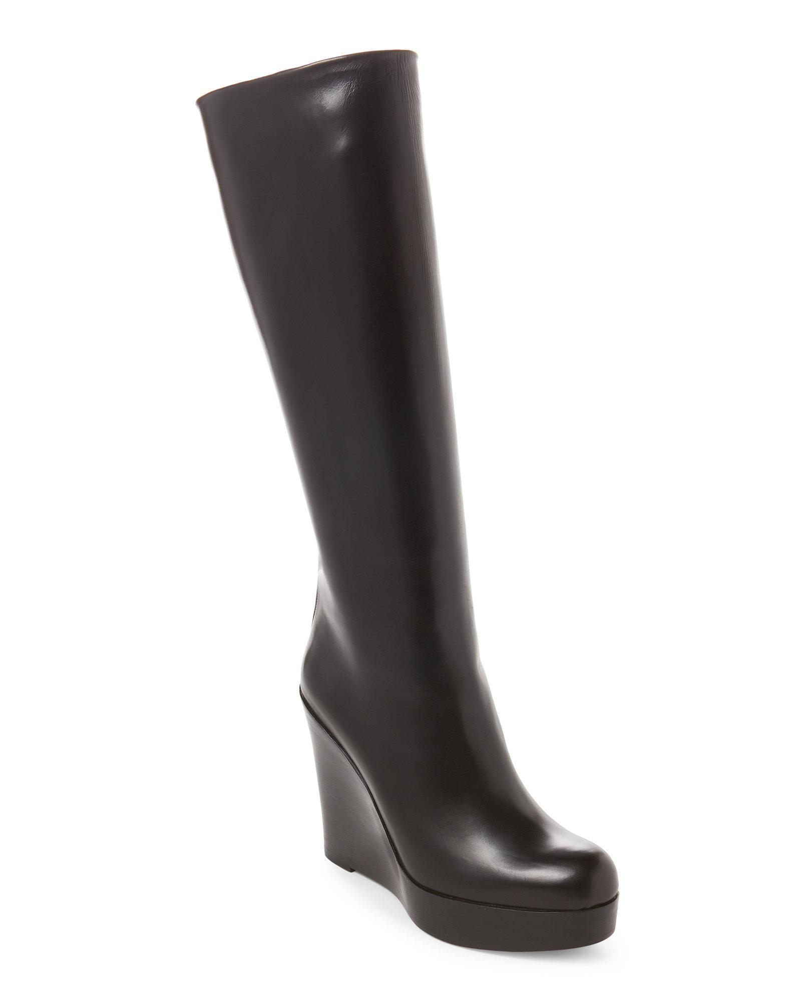 9394e2ef1eb Lyst - Christian Louboutin Black Garibaldi Platform Wedge Boots in Black
