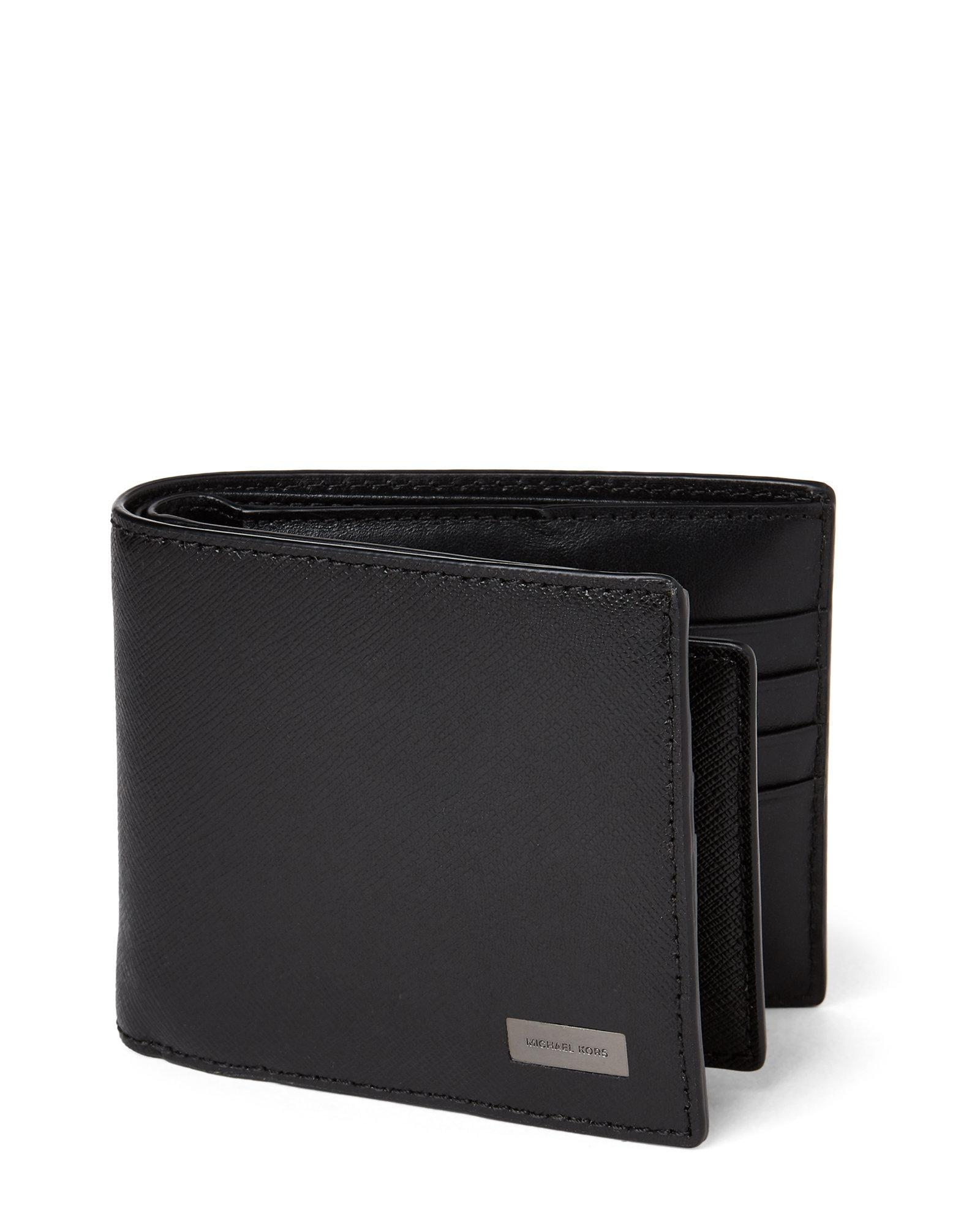 241625889f82 ... reduced michael kors. mens black andy saffiano leather bifold wallet  98043 3e09a