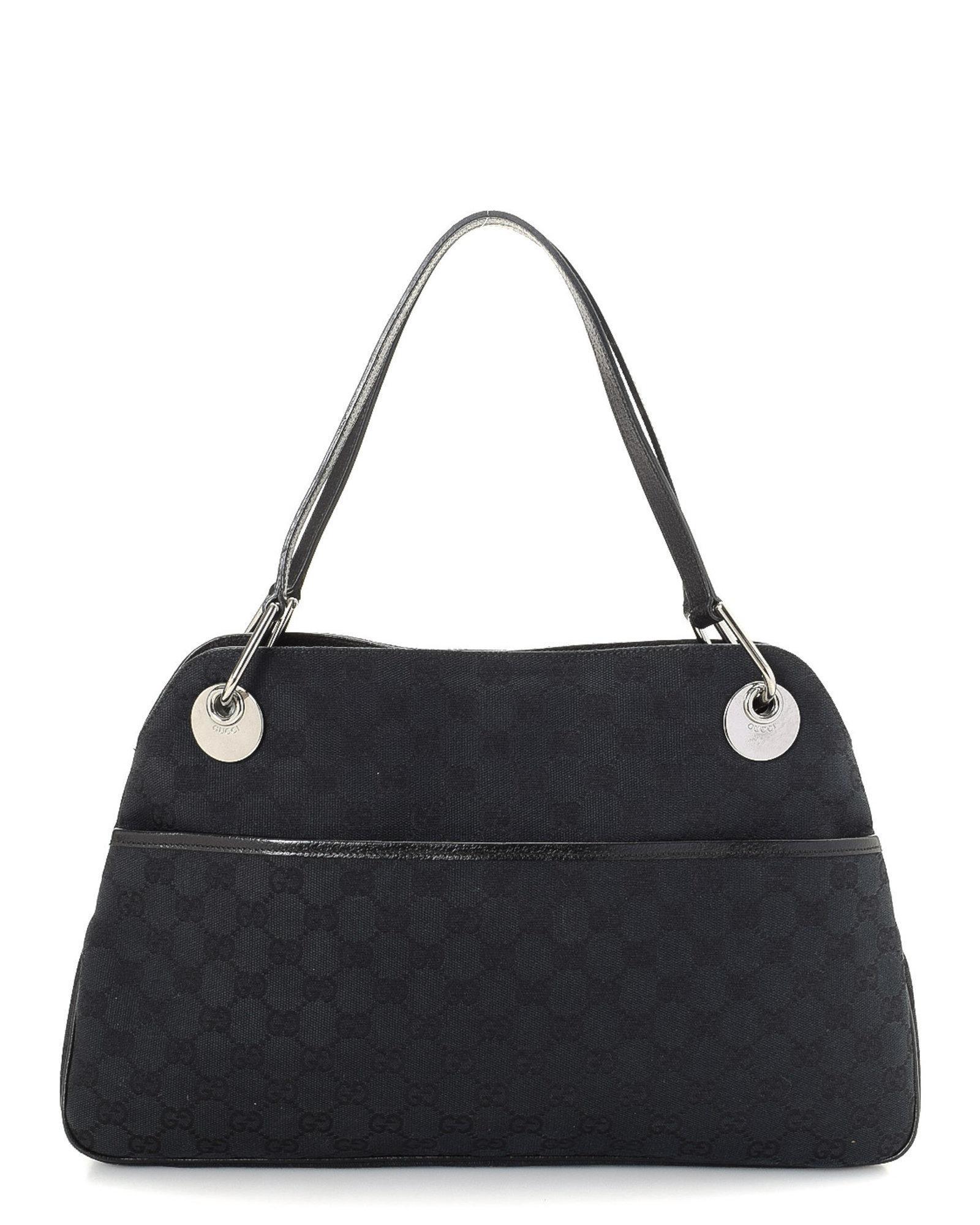 68935589587 Lyst - Gucci Gg Canvas Shoulder Bag - Vintage in Black