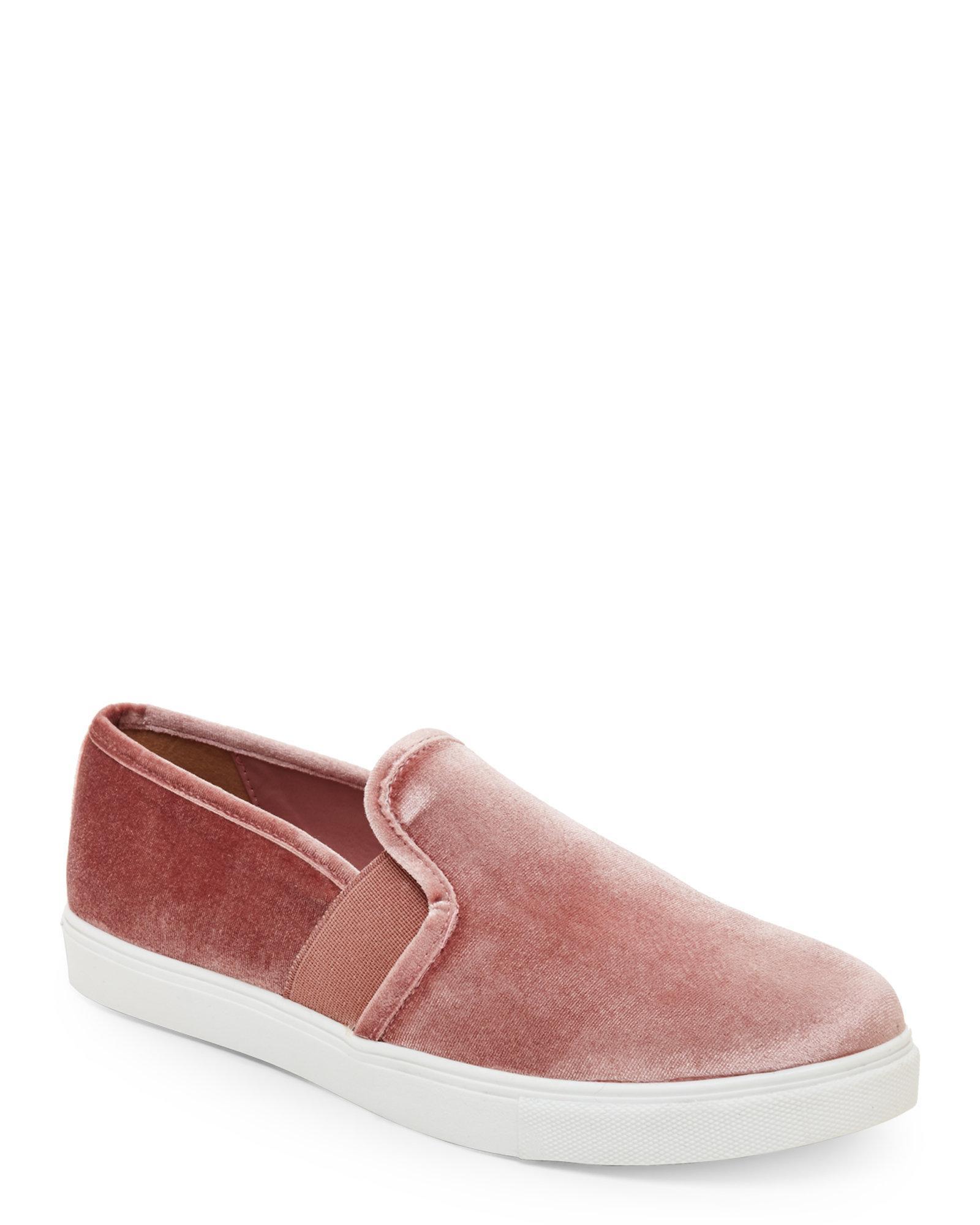Velvet Shoes Slip Ons