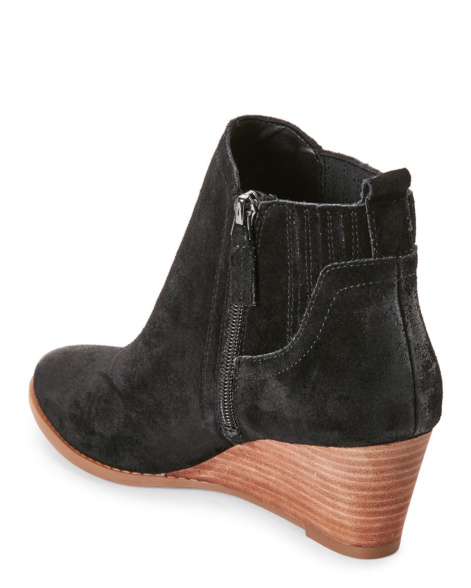 4237677ef2c Lyst - Franco Sarto Black Wayra Wedge Ankle Booties in Black