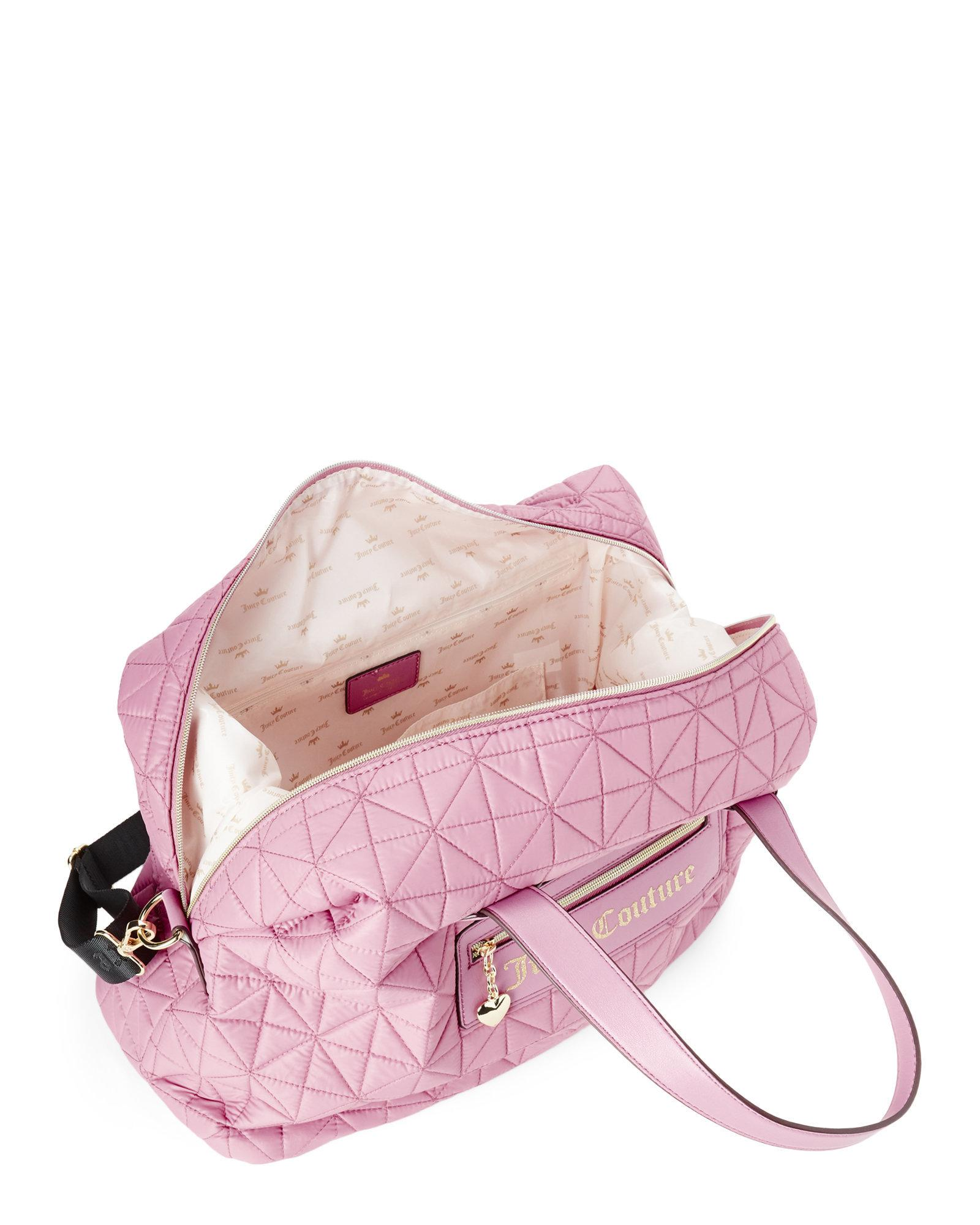 Lyst - Juicy Couture Posey Pink Starburst Quilted Weekender in Pink ab556582f