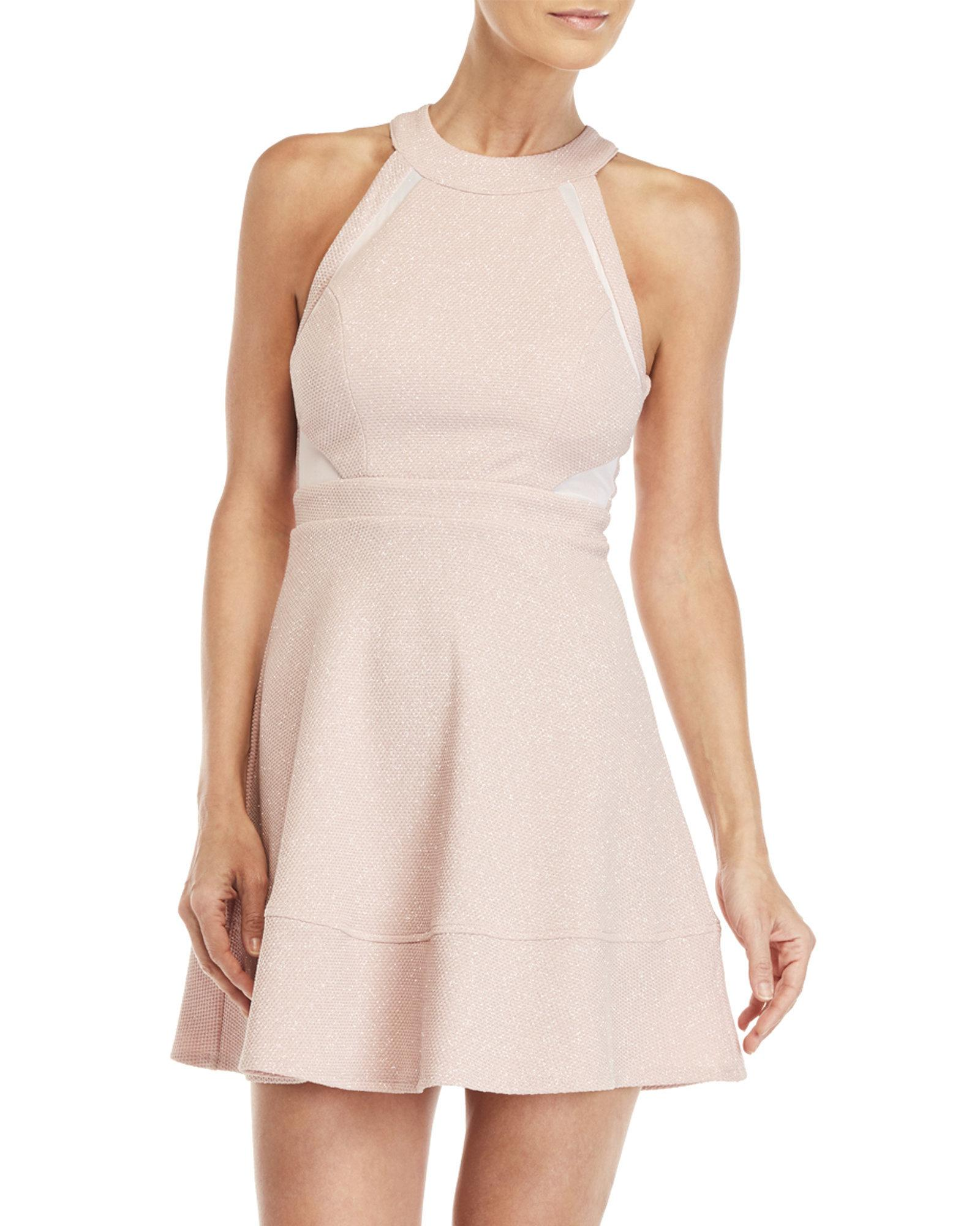 1775f50aa Emerald Sundae Blush Sleeveless Glitter Fit & Flare Dress in Pink - Lyst