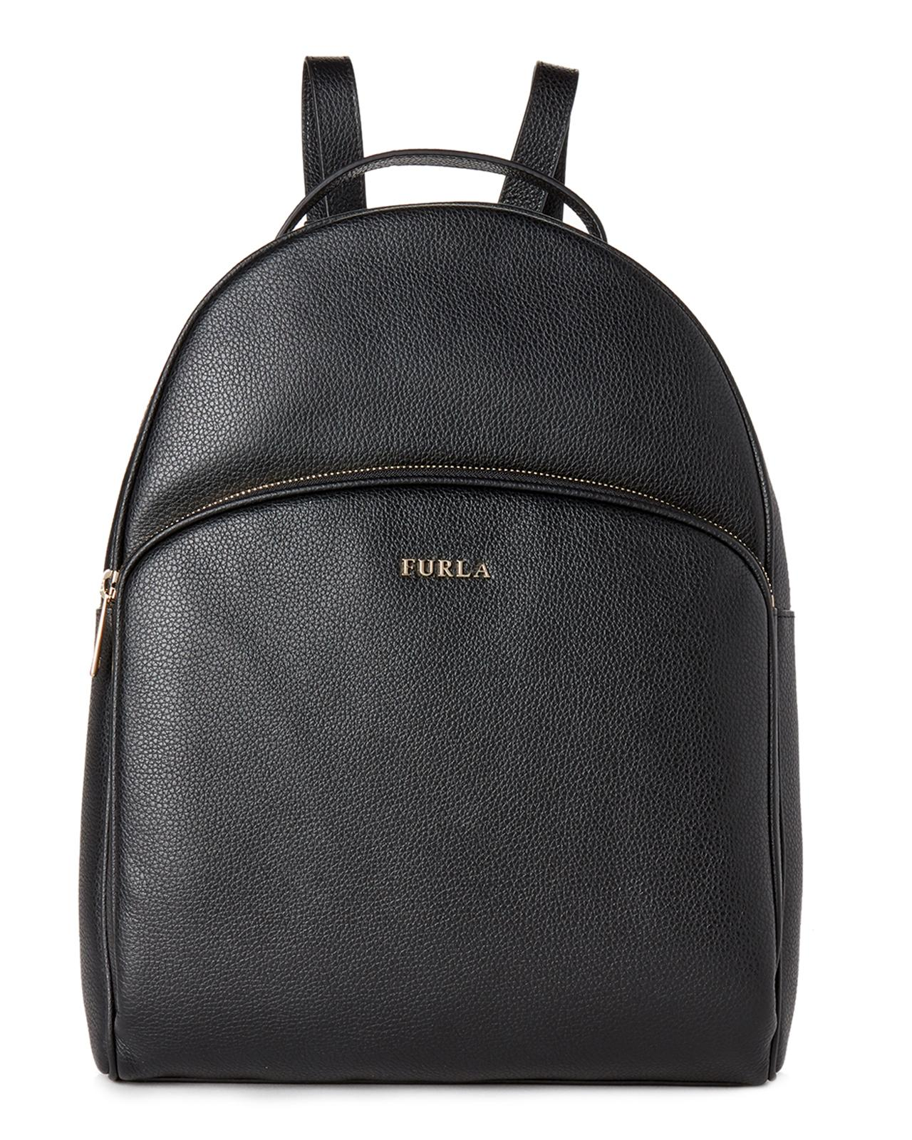 bc65592b63f8 Lyst - Furla Onyx Frida Leather Backpack in Black