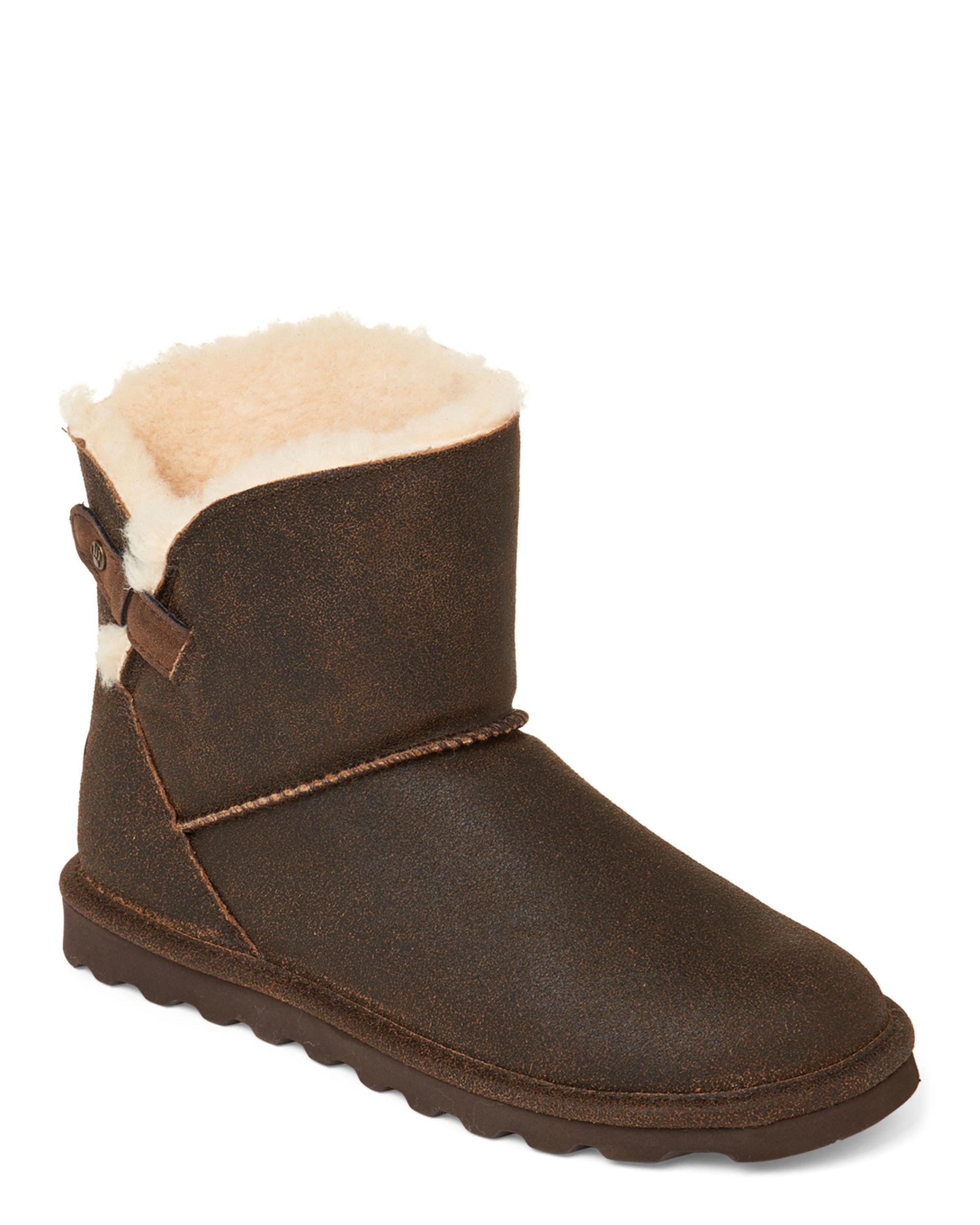 0ef0f35e3bf Lyst - BEARPAW Chestnut Margaery Real Fur & Suede Boots in Brown