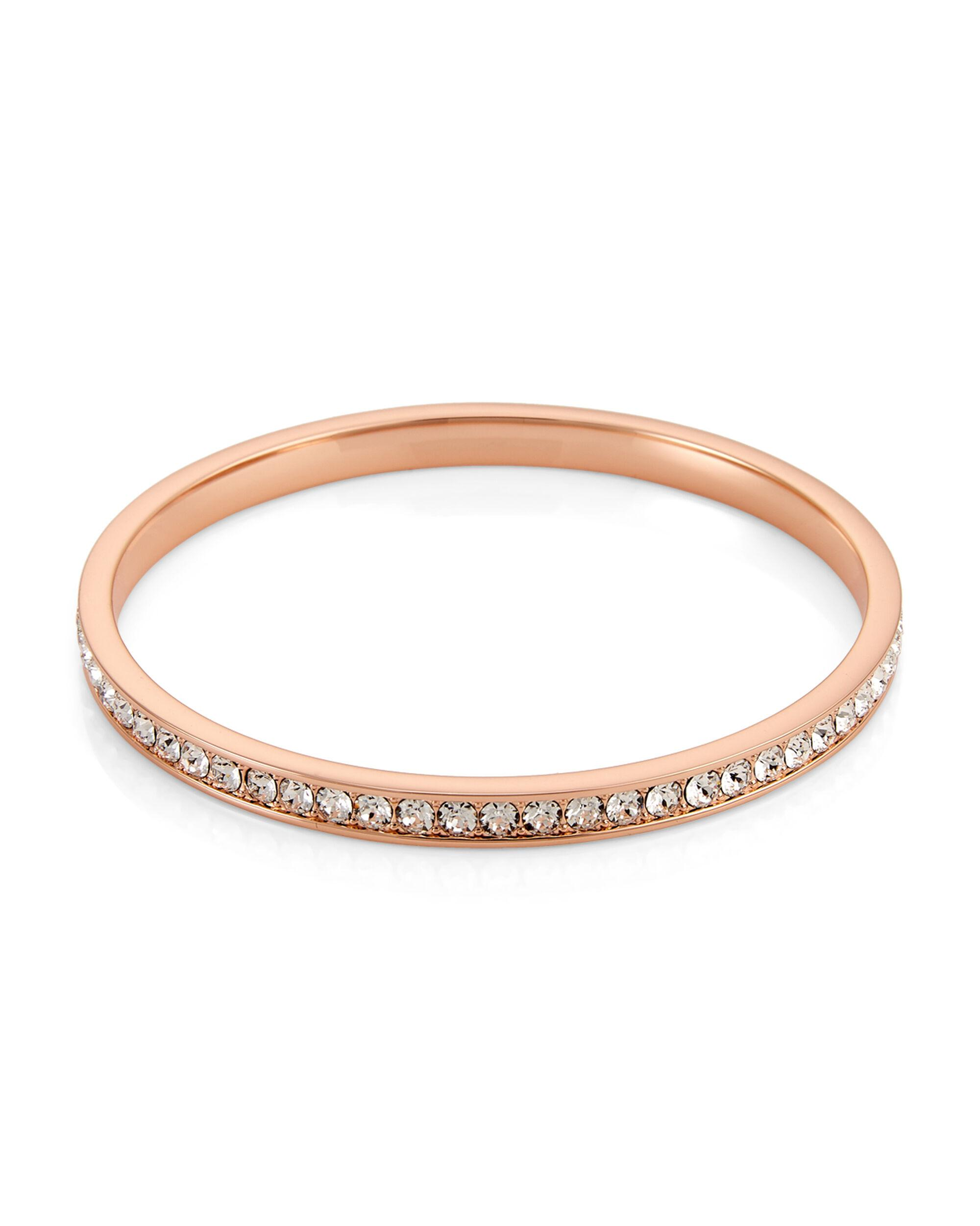 7636ddfa8a1c7 Ted Baker Rose Gold-tone Clem Narrow Crystal Band Bangle in Metallic ...