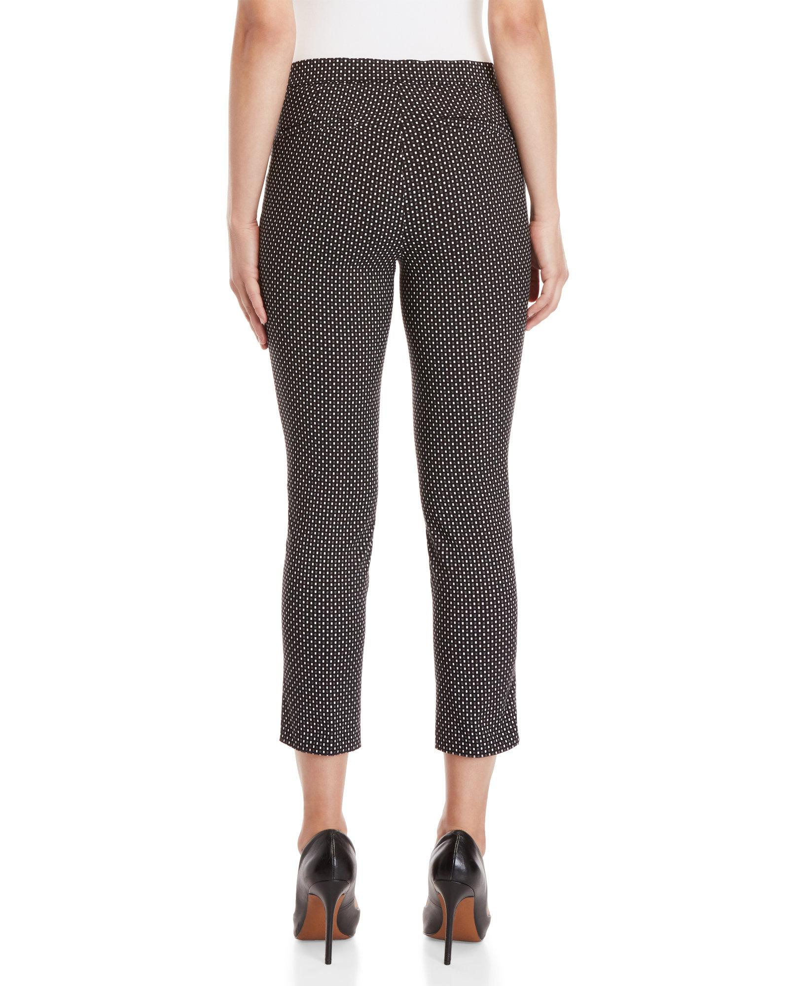 Lyst Rafaella Petite Geo Digital Pull On Pants In Black