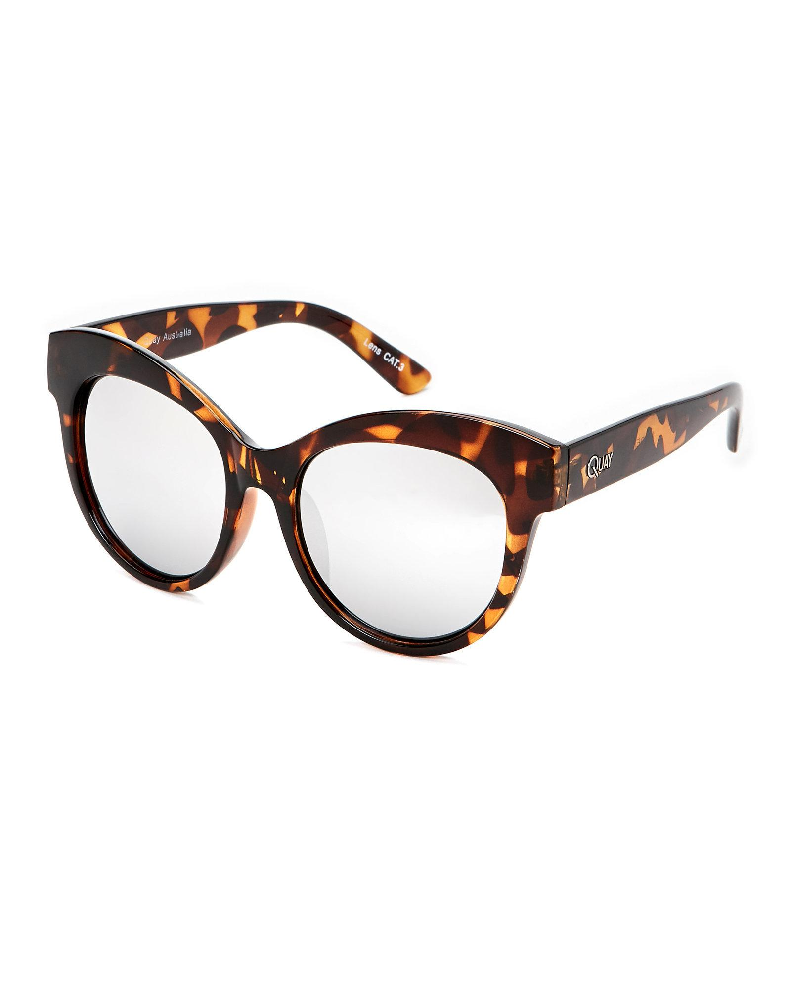 41a8db0954d67 Lyst - Quay Tortoiseshell-Look Maiden Cat Eye Sunglasses in Brown