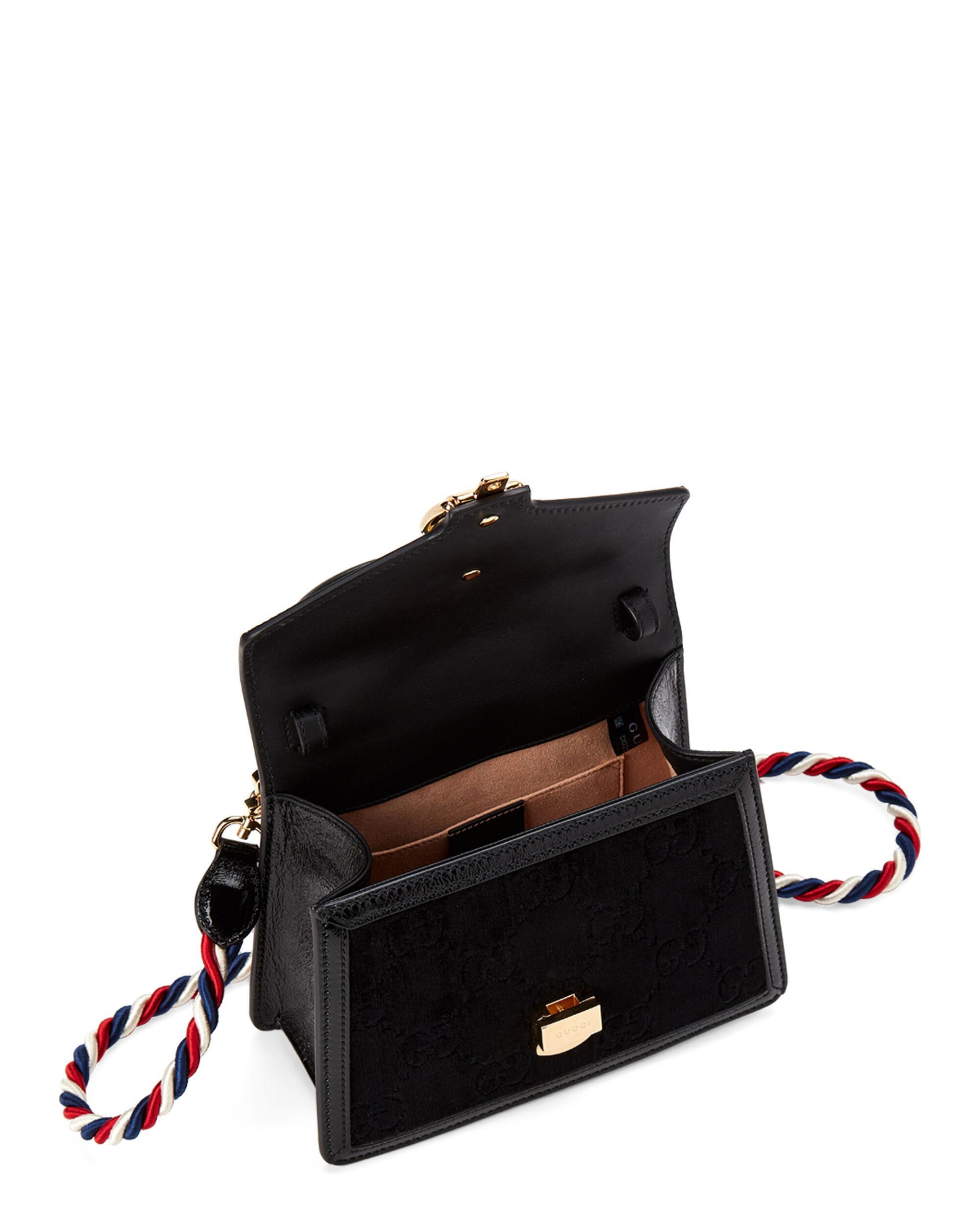 1c887d4c0 ... Black Sylvie GG Velvet Mini Bag - Lyst. Visit Century 21. Tap to visit  site