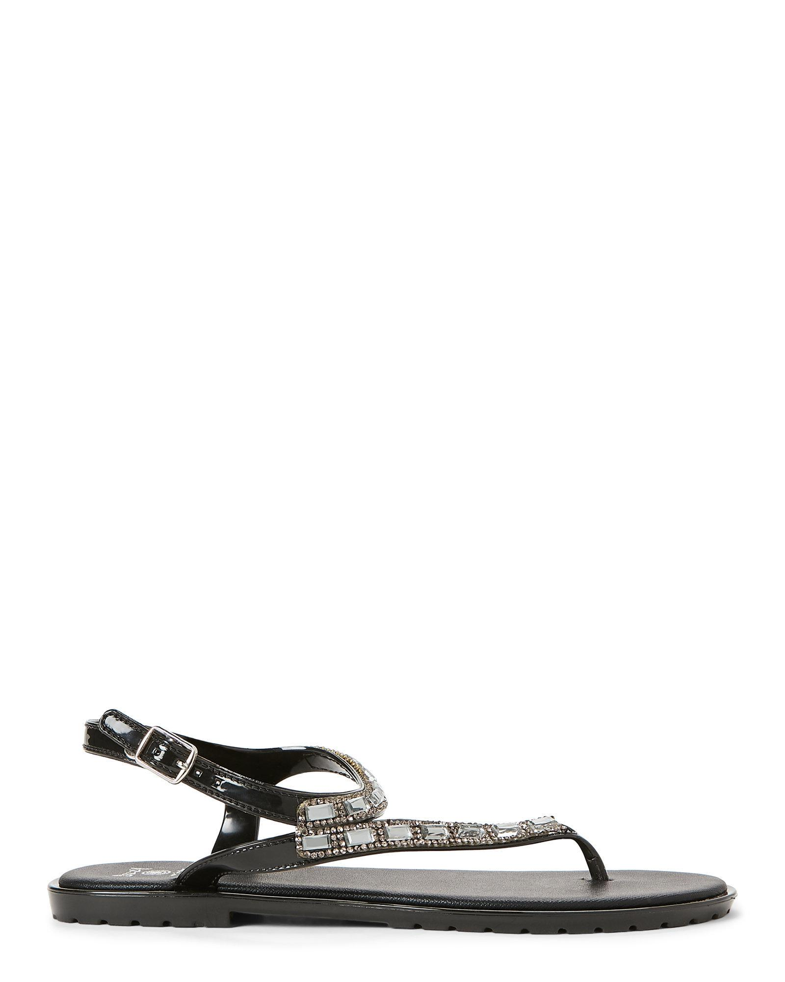 2a6620c8f66 Lyst - Dizzy Faux Gemstone Strap Sandals in Black