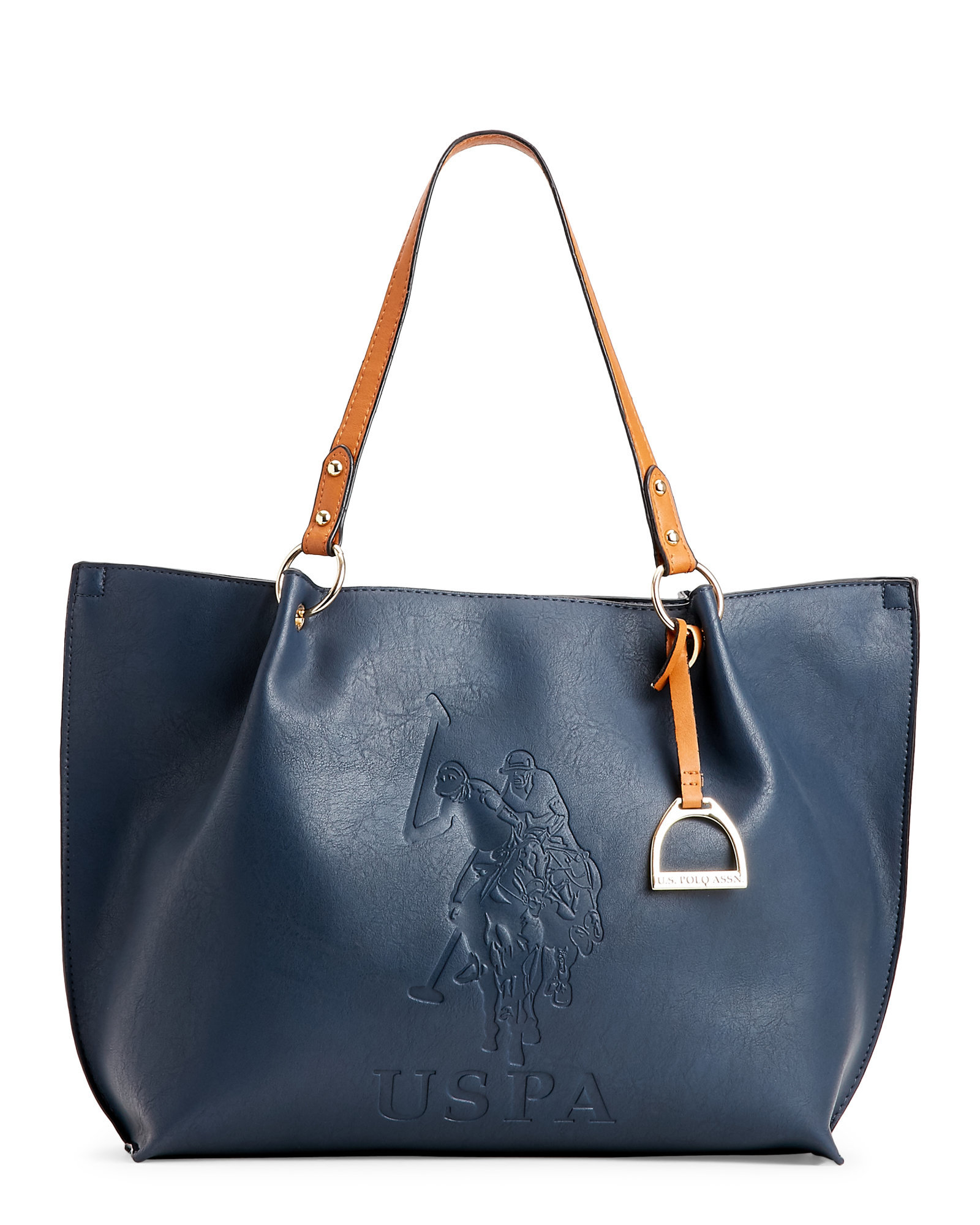 7fa9ab6c366f Lyst - U.S. POLO ASSN. Navy Kingston Embossed Tote in Blue
