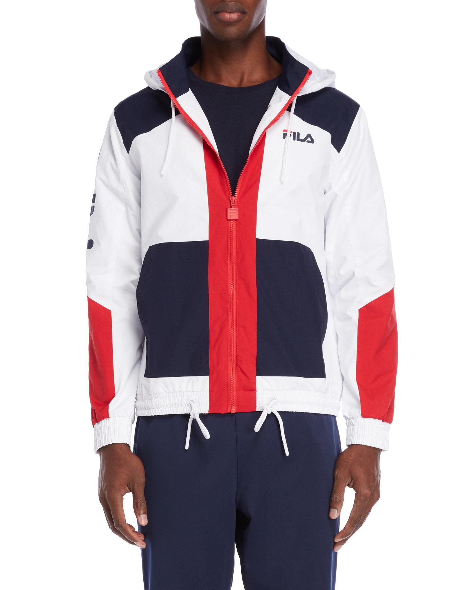 Lyst Fila Earl Hooded Jacket In White For Men