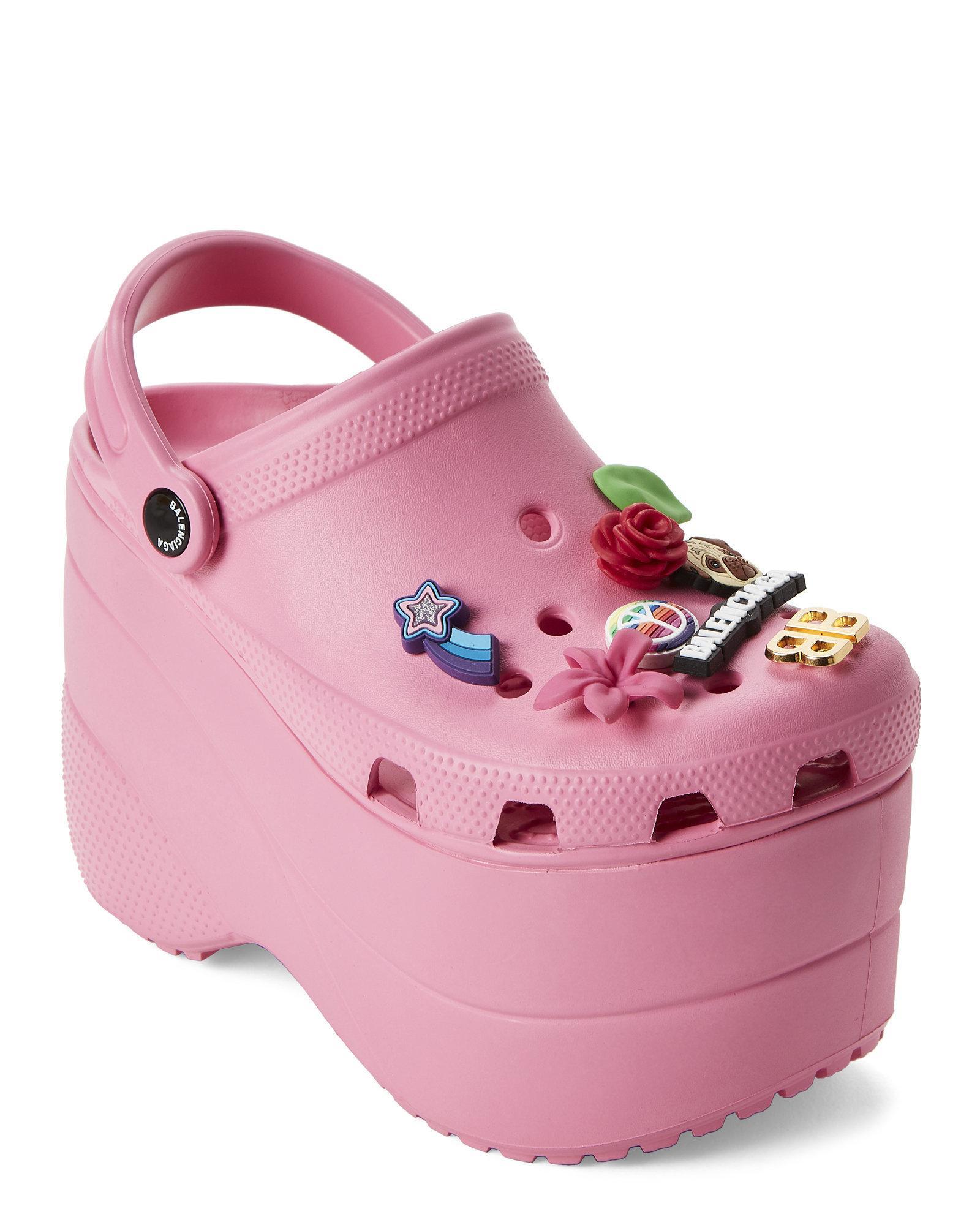 2dc092dbeed Lyst - Balenciaga Rose Bonbon Foam Platform Sandals in Pink