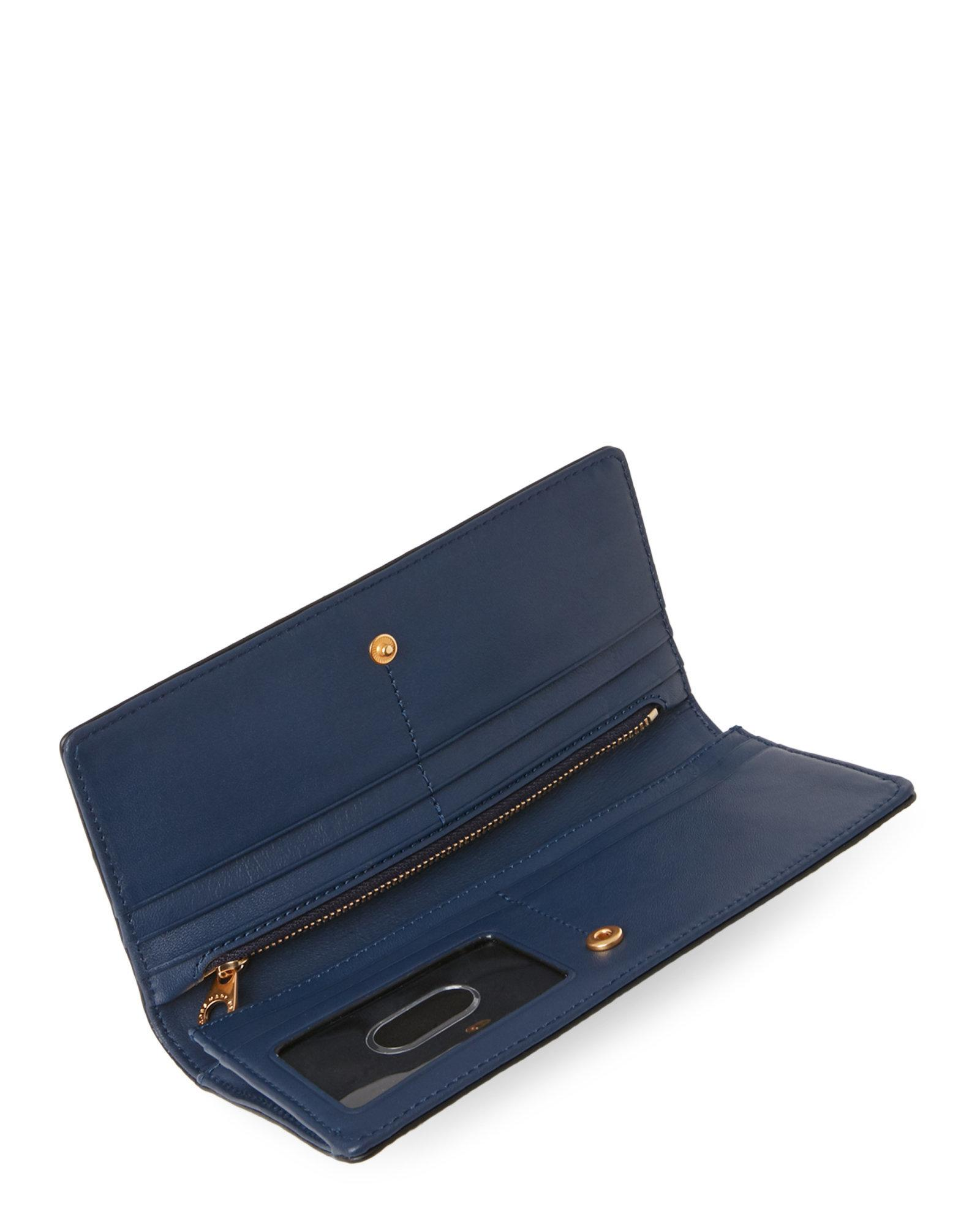ab856135cdc Marc By Marc Jacobs Navy Blue Petal To The Metal Continental Wallet ...