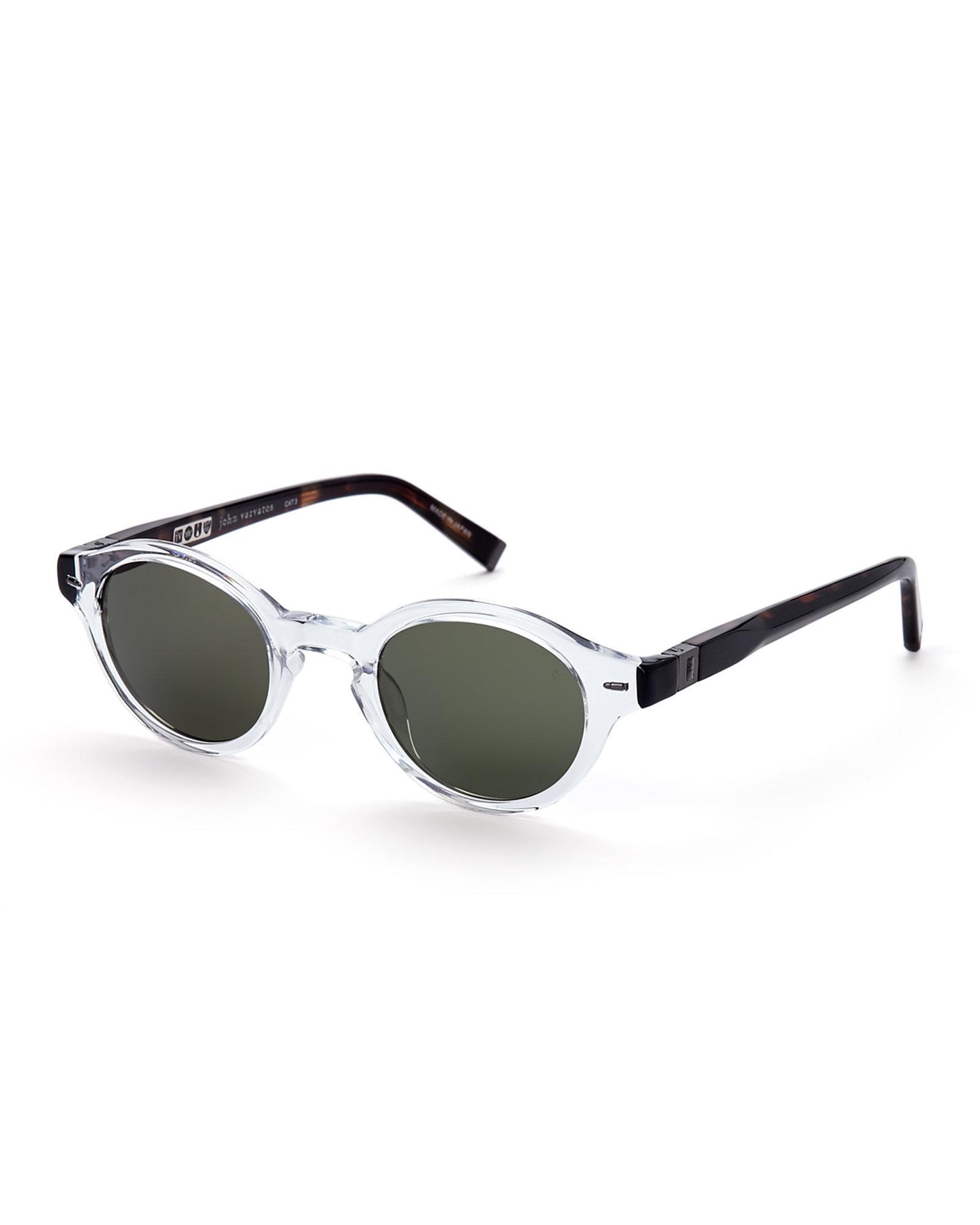 Lyst - John Varvatos V756 Retro Round Sunglasses in Black for Men