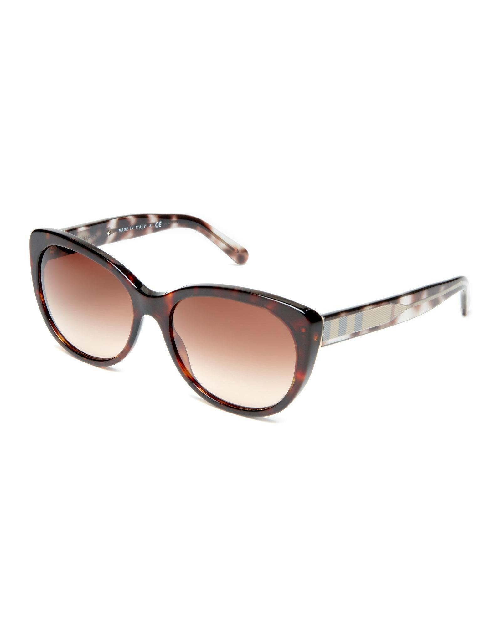 8ffa8150e828 Lyst - Burberry Be4224 Tortoiseshell-Look Cat Eye Sunglasses in Brown