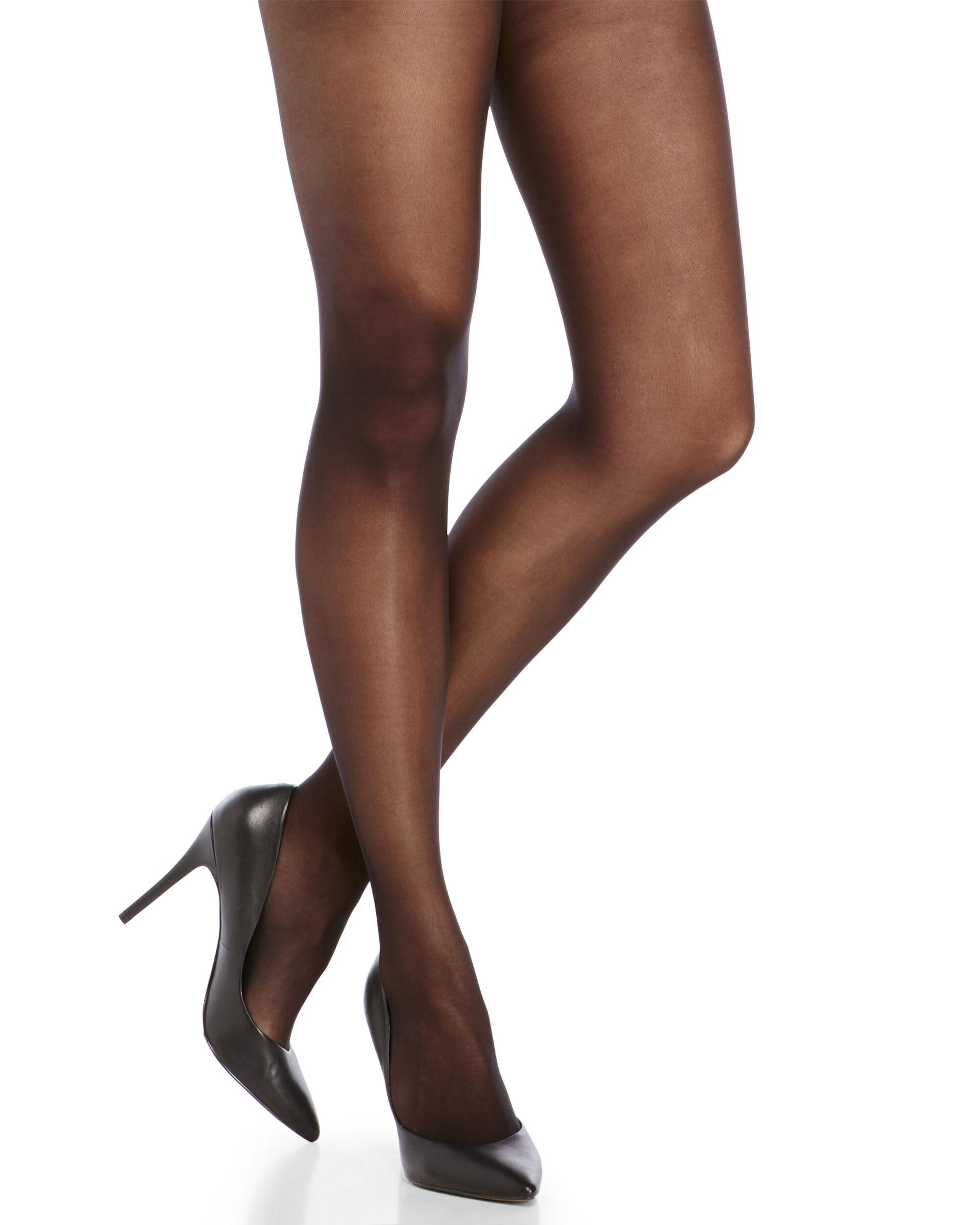 f56854d28d0c0 Hue Black Sheer Control Top Tights in Black - Lyst