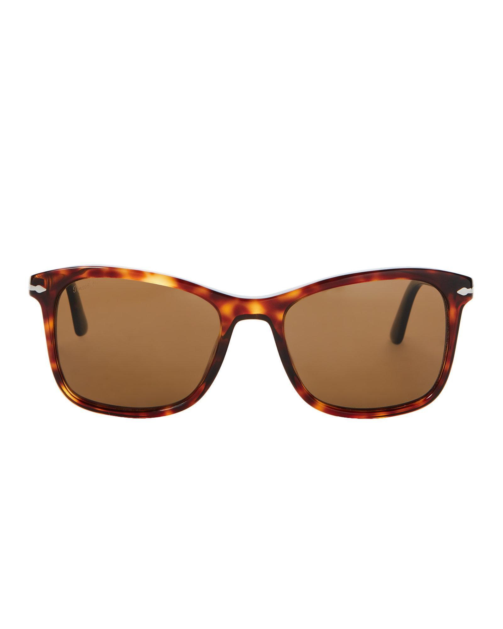 c8ac1271f0244 Persol Po3192s Brown   Tortoiseshell-look Square Polarized ...