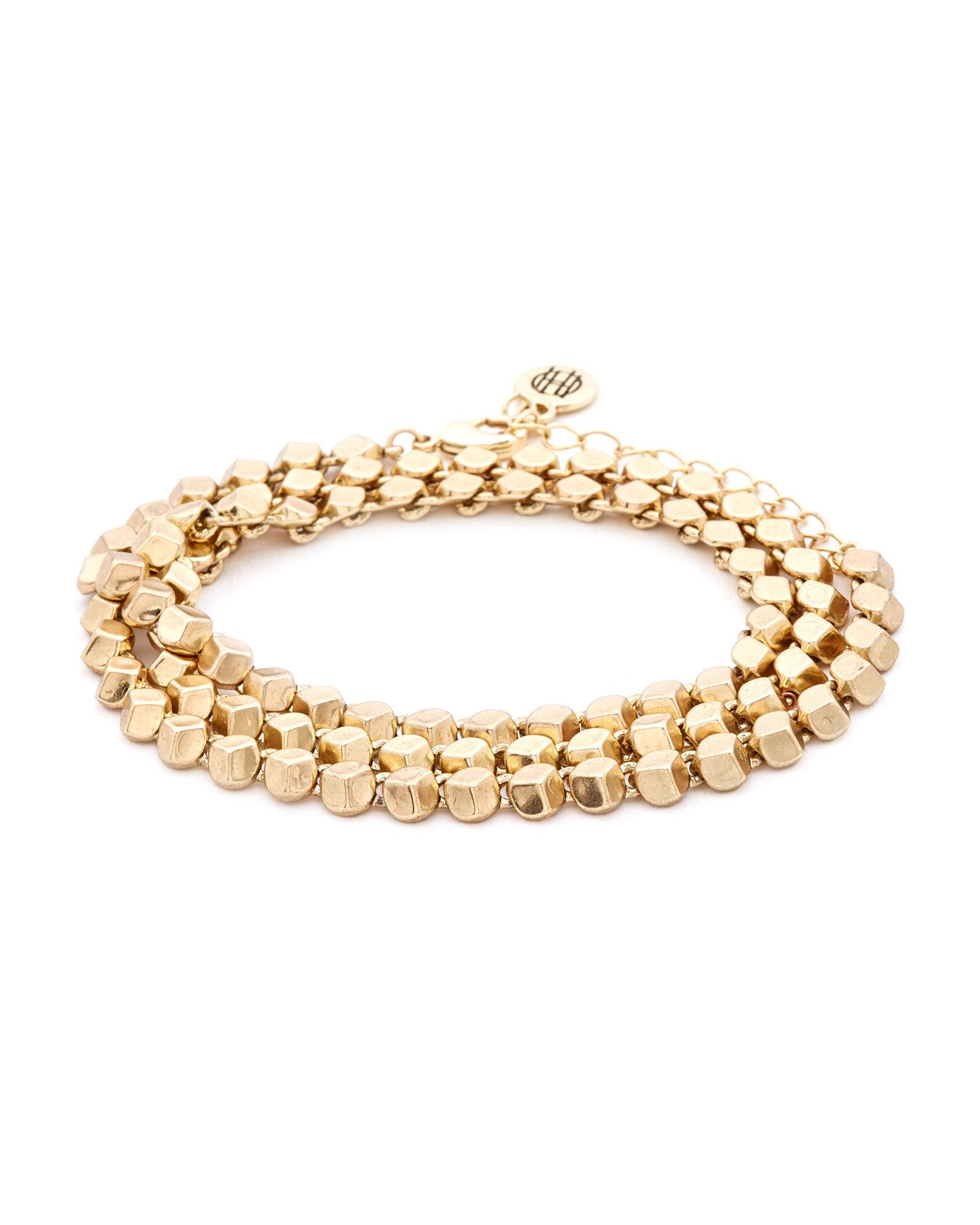House Of Harlow 1960 Gold Tone Pyramid Wrap Bracelet In