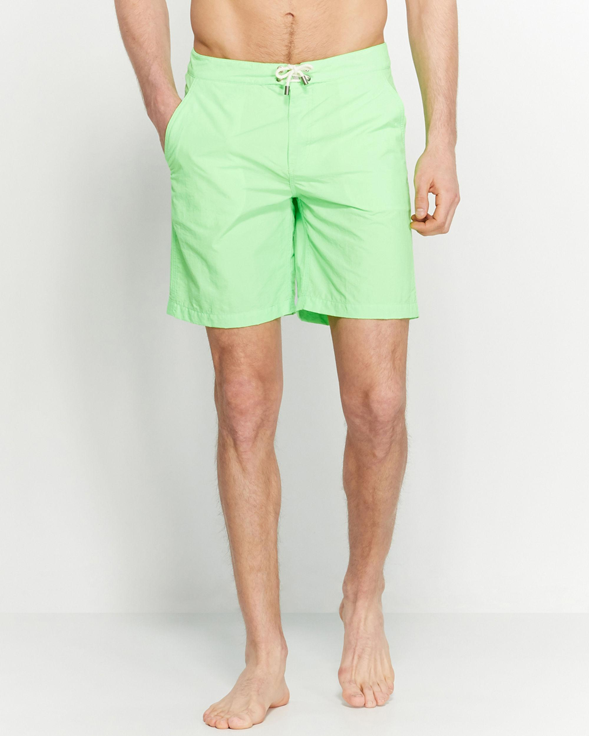 5238d336a69f4 Solid & Striped Neon Green Swim Trunks in Green for Men - Lyst
