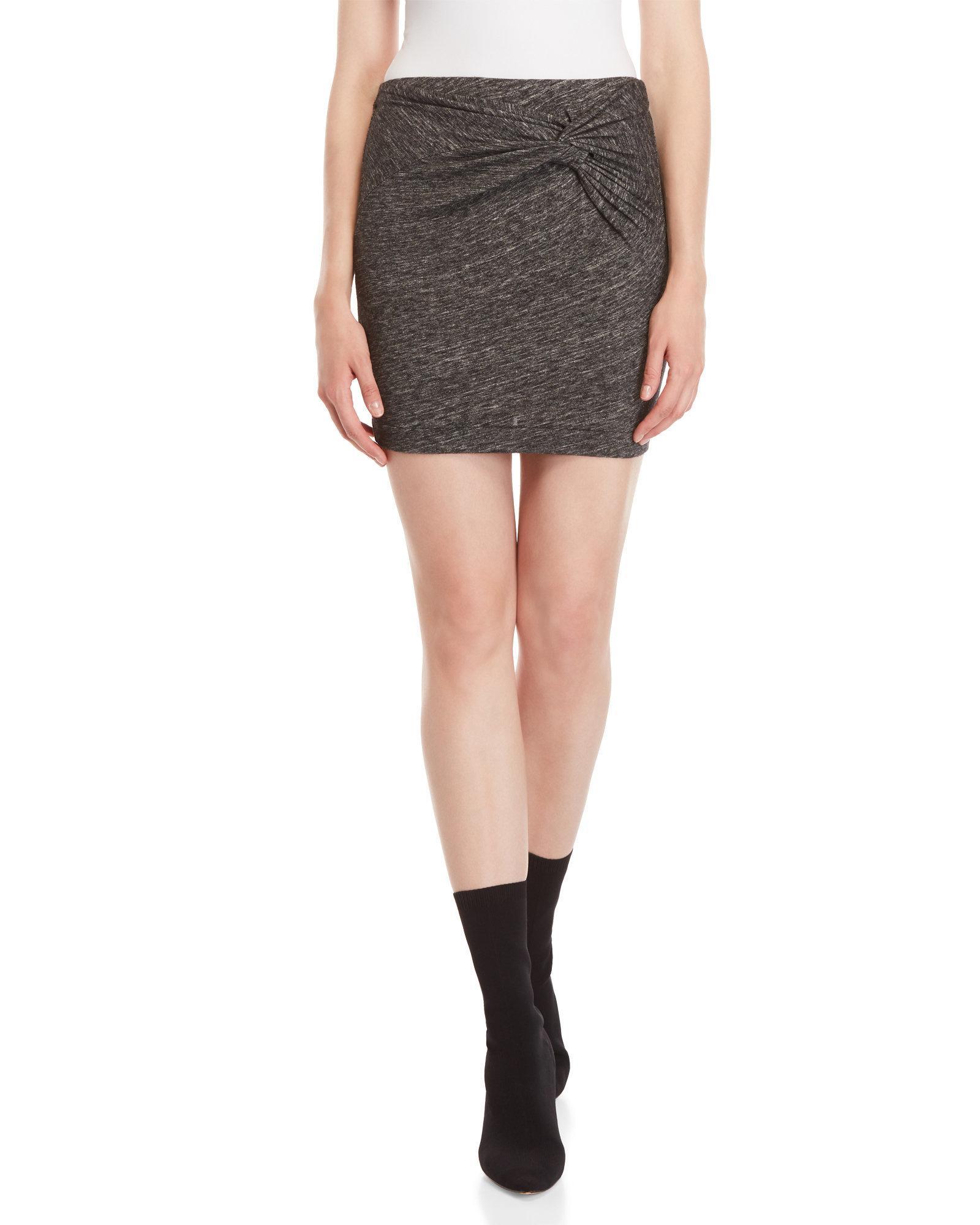 fed4da8478 7fairy Dark Grey Cotton Heart Print Mini Pencil Jump Skirt. Iro Women S Gray  Grey Marl Twist Mini Skirt. Lyst Iro Grey Marl Twist Mini Skirt In Gray