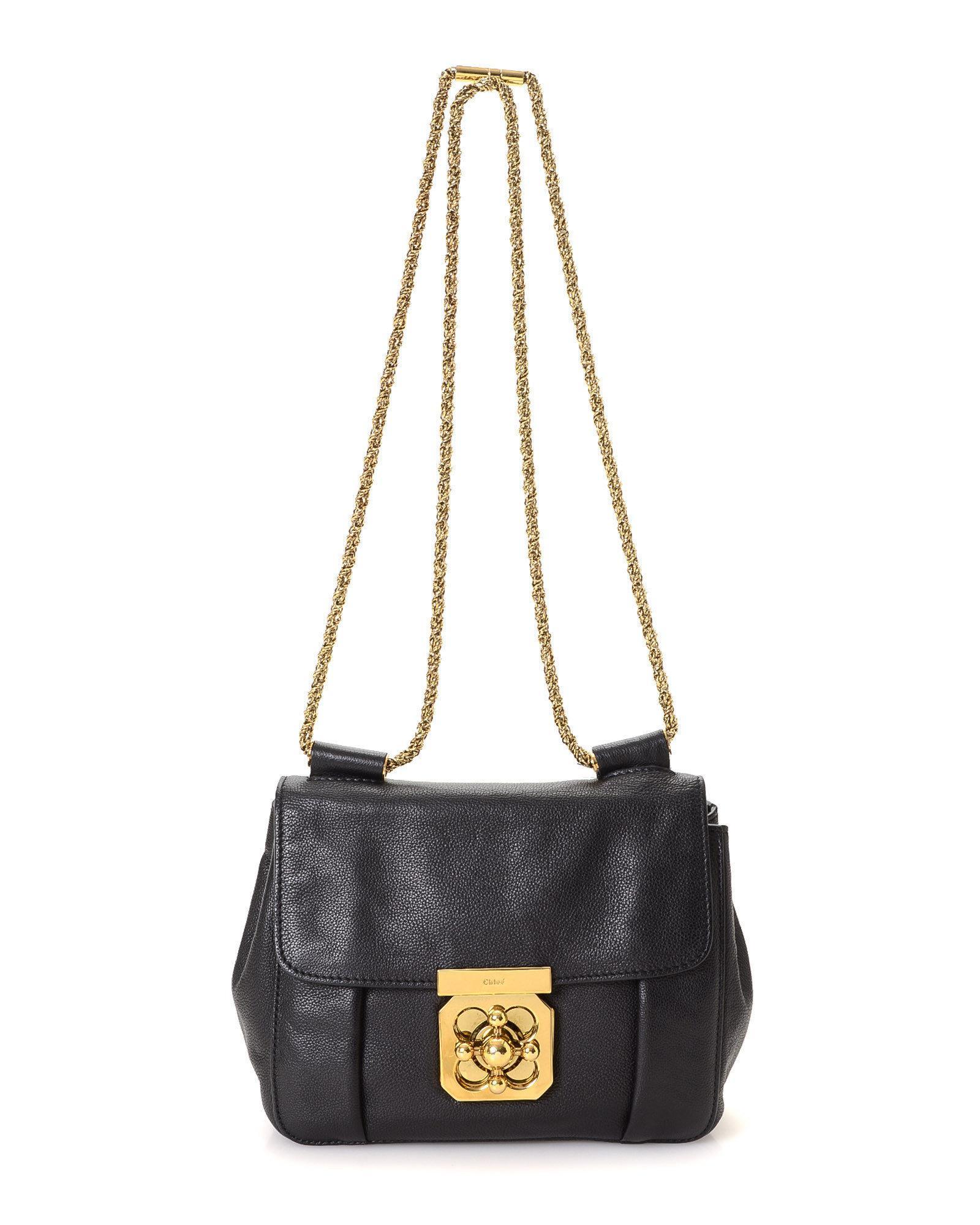 a9aef53ea865 Lyst - Chloé Elsie Shoulder Bag - Vintage in Black