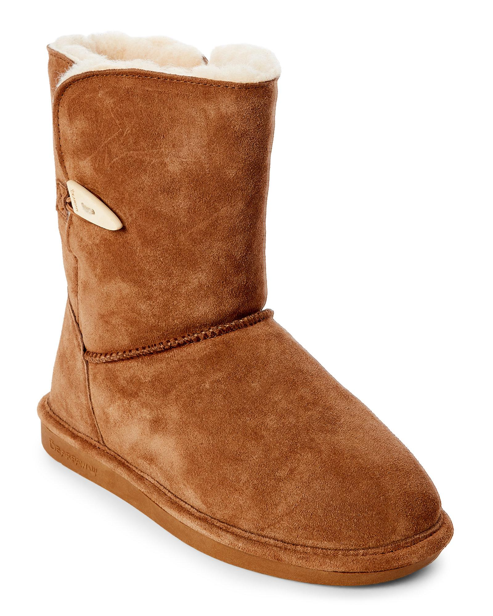 526d06d3b74 BEARPAW Hickory Victorian Real Fur Short Boots in Brown - Lyst