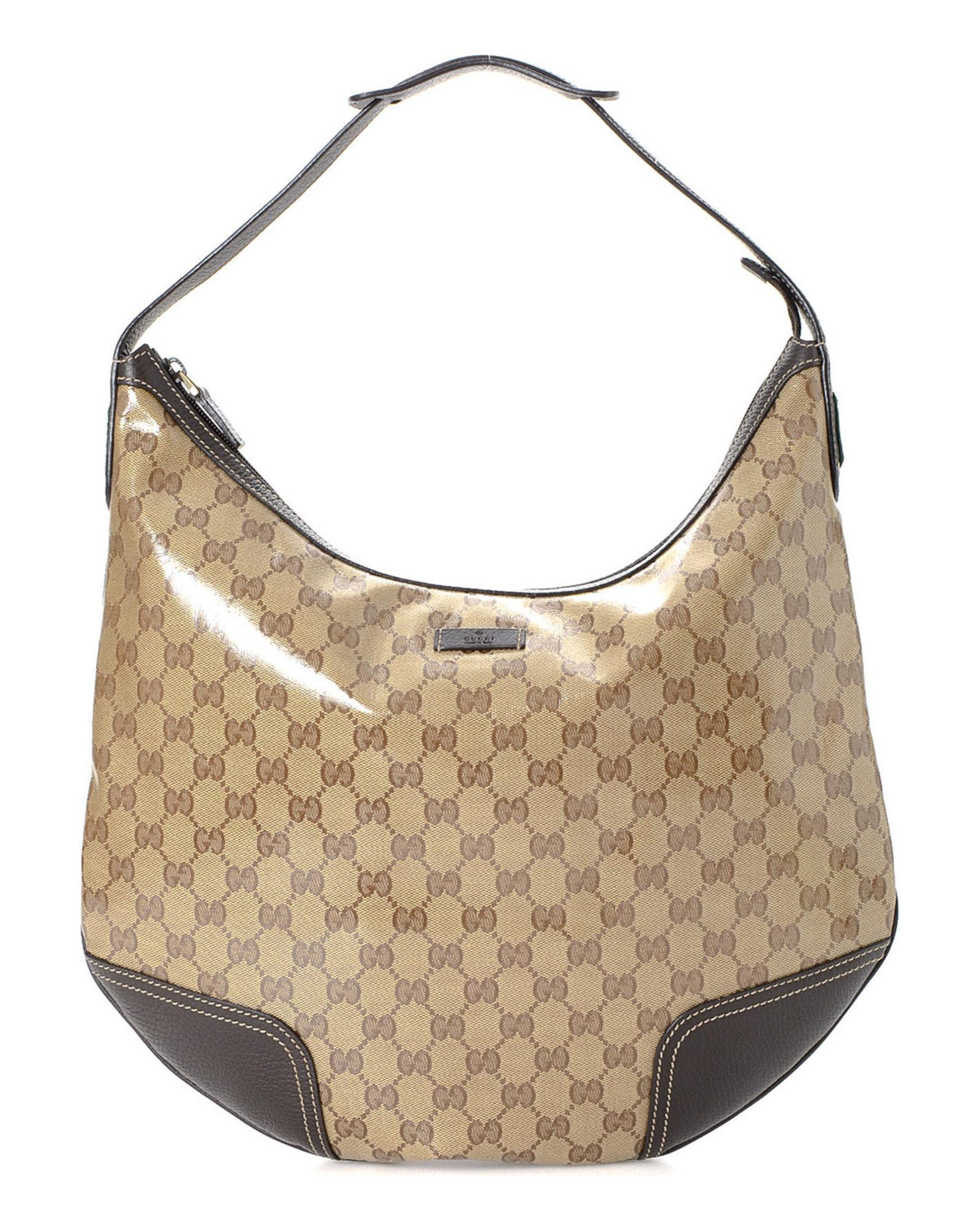 9dddcf313e9f Lyst - Gucci Gg Crystal Tote - Vintage in Natural