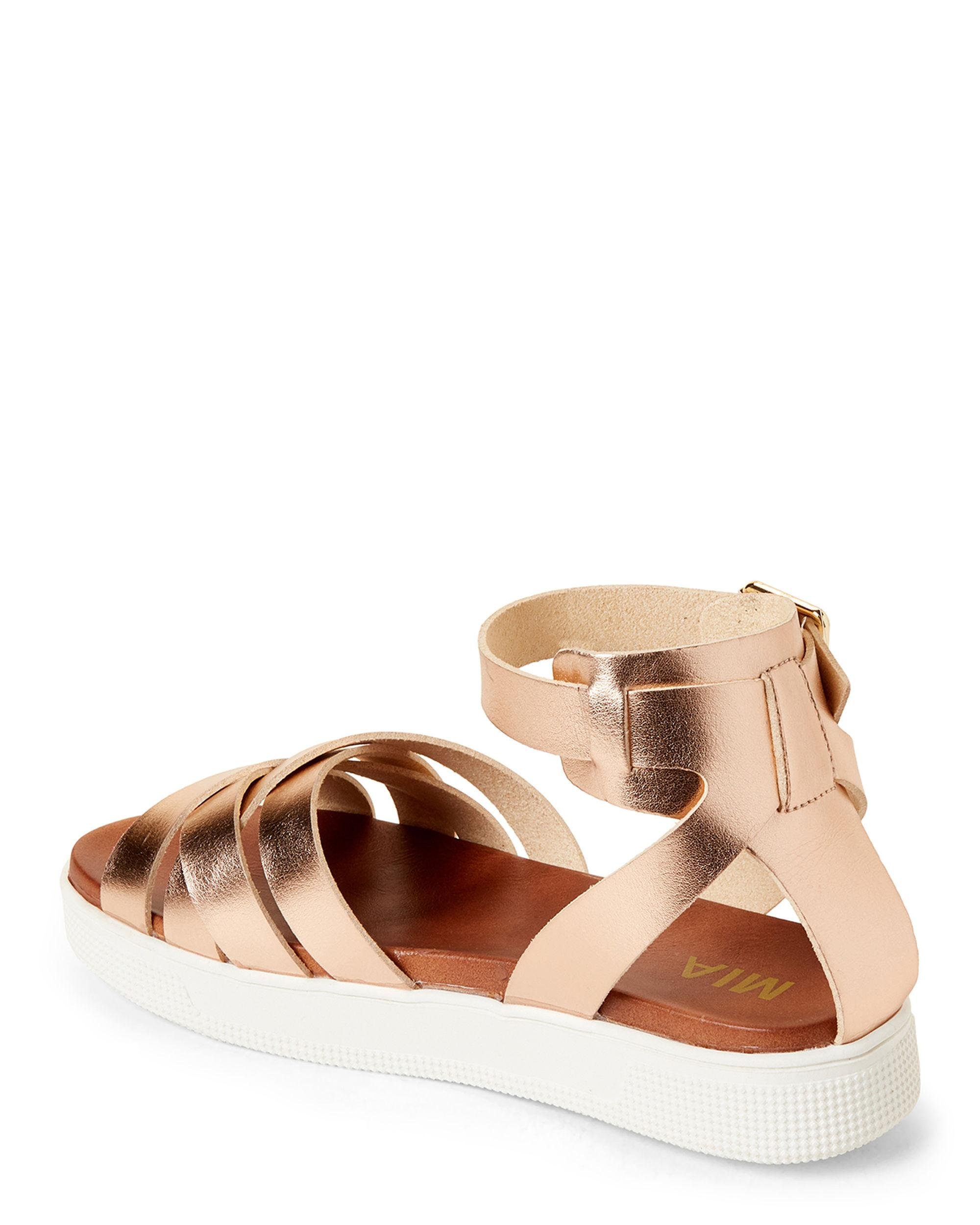 5839528b4f MIA - Multicolor Rose Gold Valerie Ankle Strap Platform Sandals - Lyst.  View fullscreen