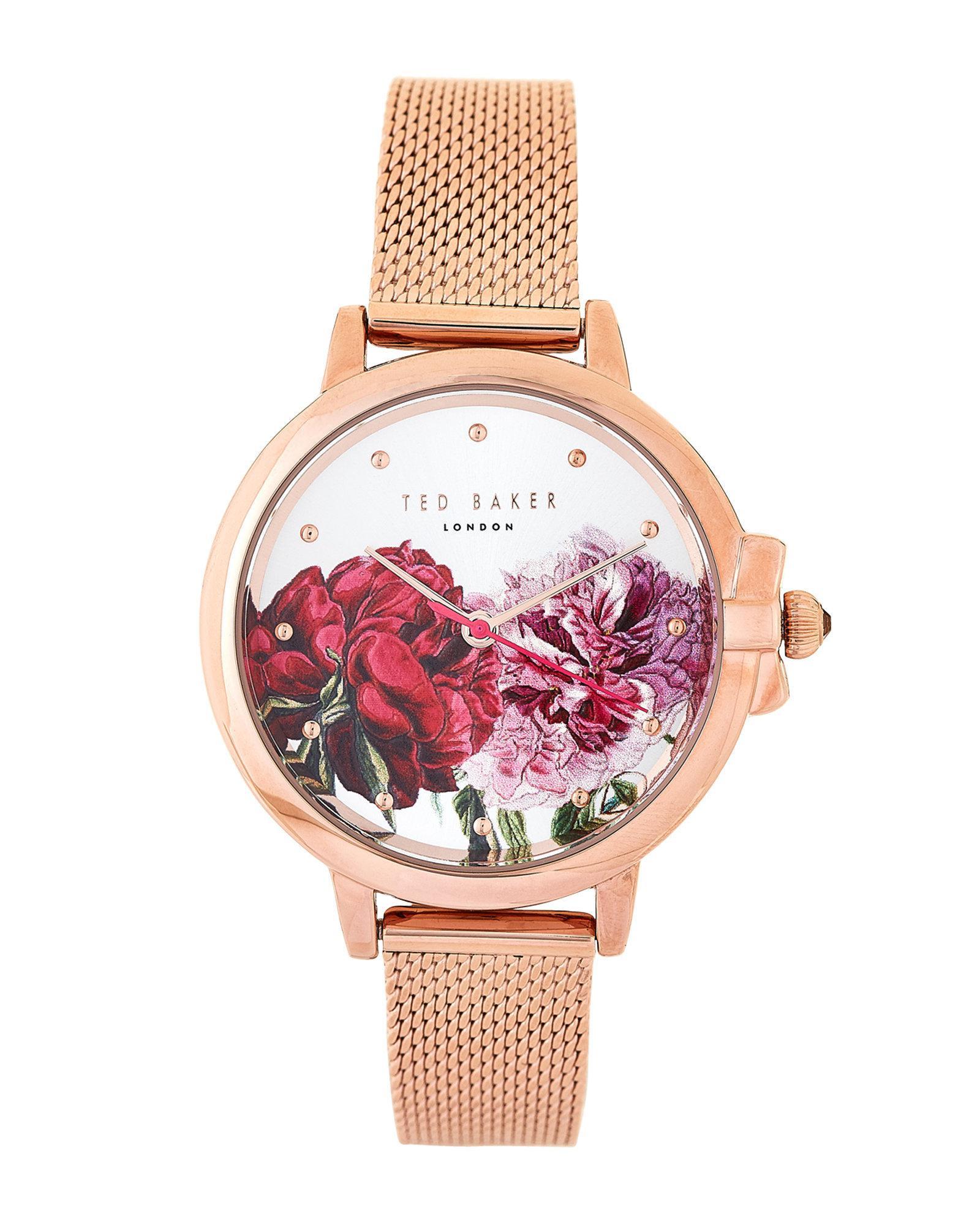 8ba883e2c Lyst - Ted Baker Te50641004 Rose Gold-tone Ruth Watch