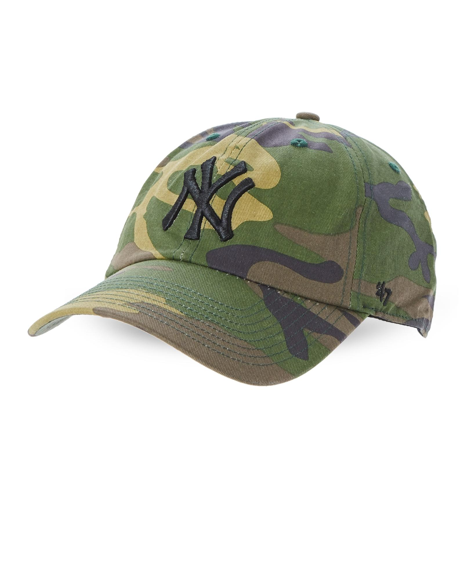 e8ac8f8989b Lyst - 47 Brand Camo Clean Up New York Yankees Cap in Green