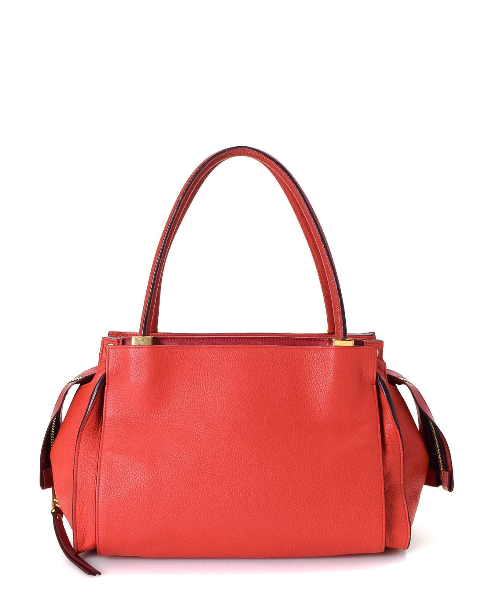 aaaa9fbfd6 Lyst - Chloé Dree Handbag - Vintage in Red